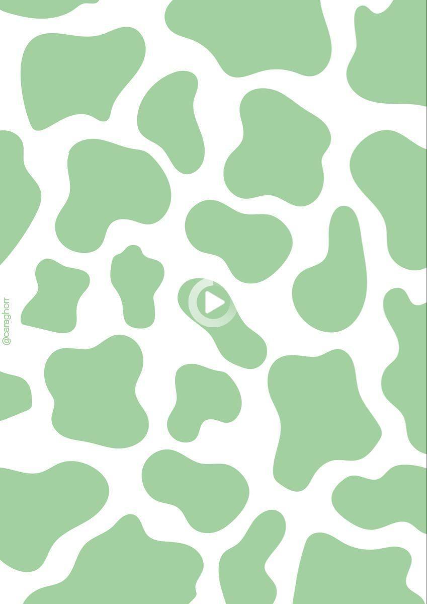 Hình nền in hình con bò thẩm mỹ màu xanh lá cây 849x1200 - Chiến đấu vì điều này