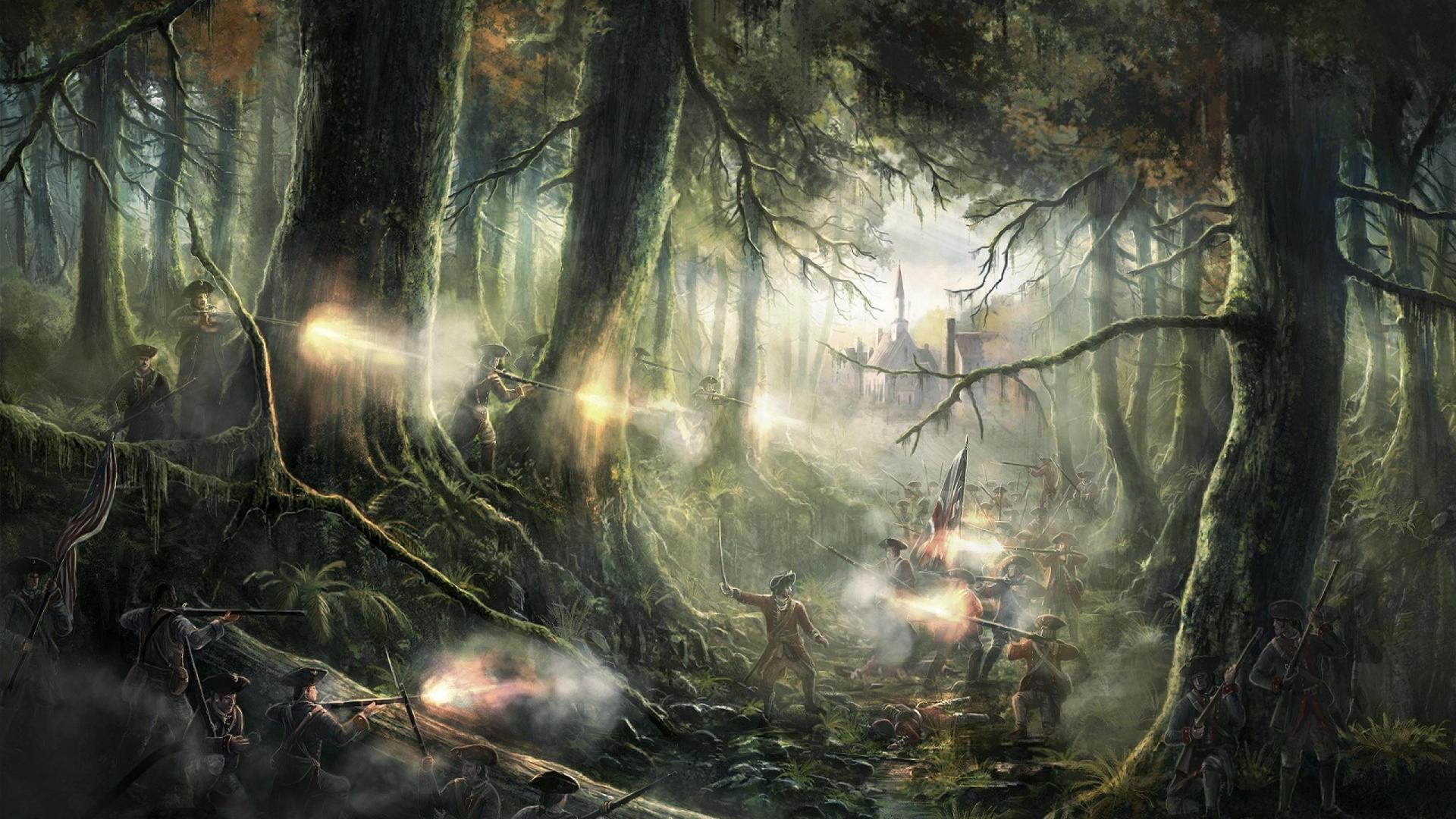 Hình nền rừng tưởng tượng 1920x1080 - Hình nền máy tính HQ