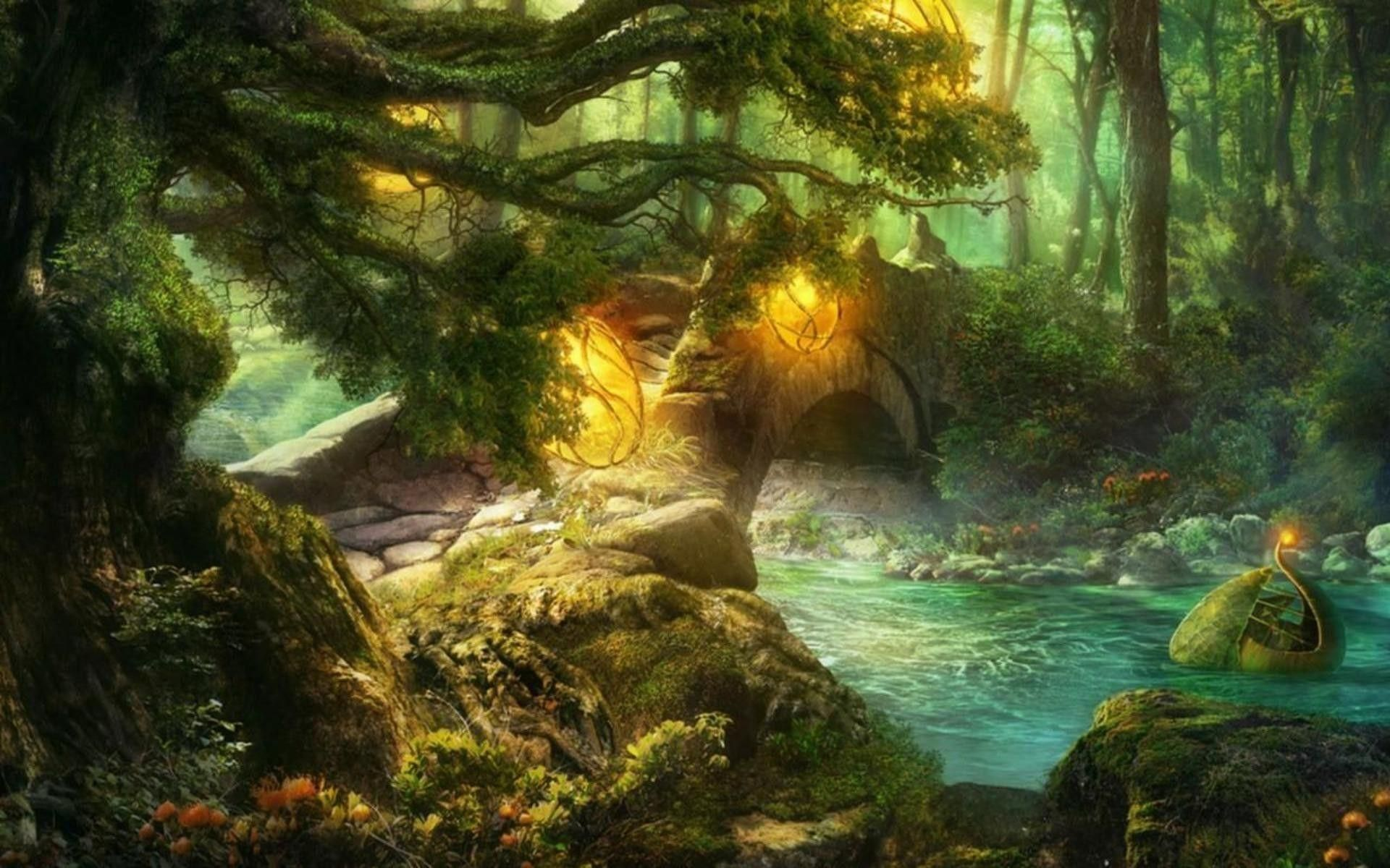 Hình nền 1920x1200 Của Truyện Cổ Tích.  Hình nền rừng, Truyện cổ tích, Phông nền vườn