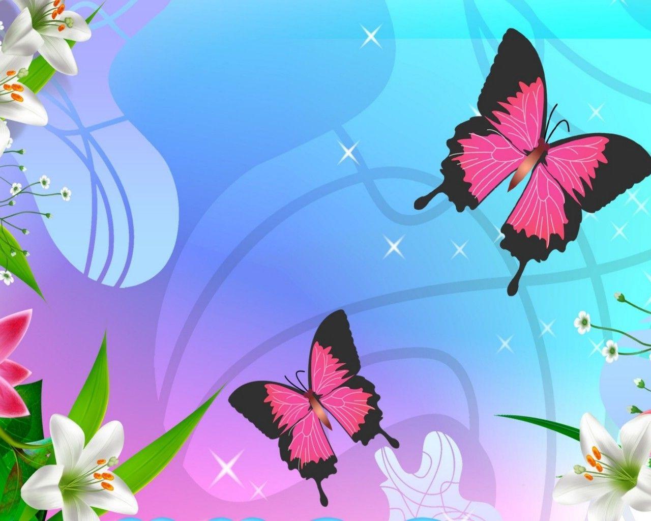 1280x1024 Tô điểm Bướm hồng Bướm bướm Firefox Persona Hoa Phấn màu Mùa hè Màn hình rộng 1440x2560