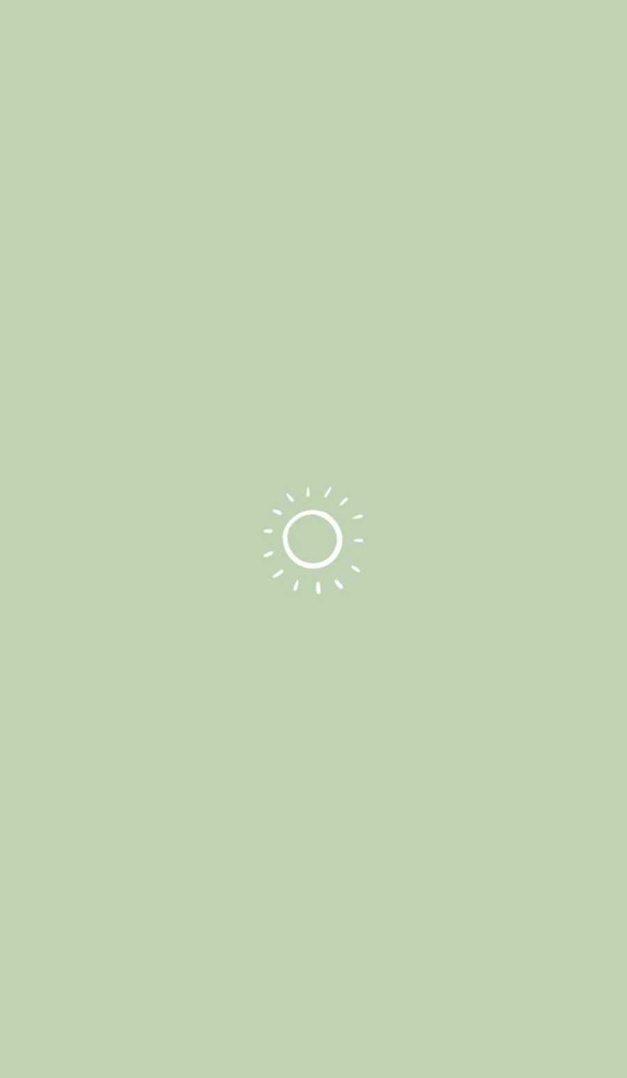 Hình nền thẩm mỹ màu xanh lá cây Sage 900x1546