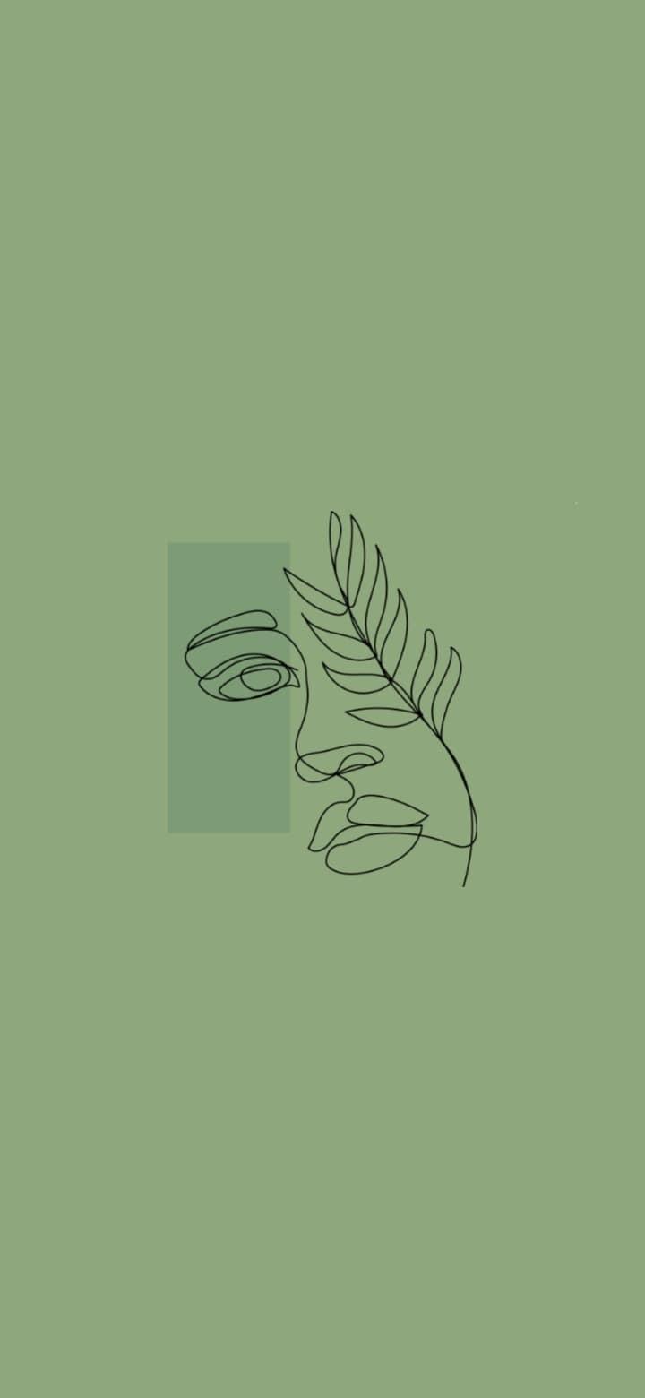Hình nền thẩm mỹ màu xanh lá cây Sage 720x1560