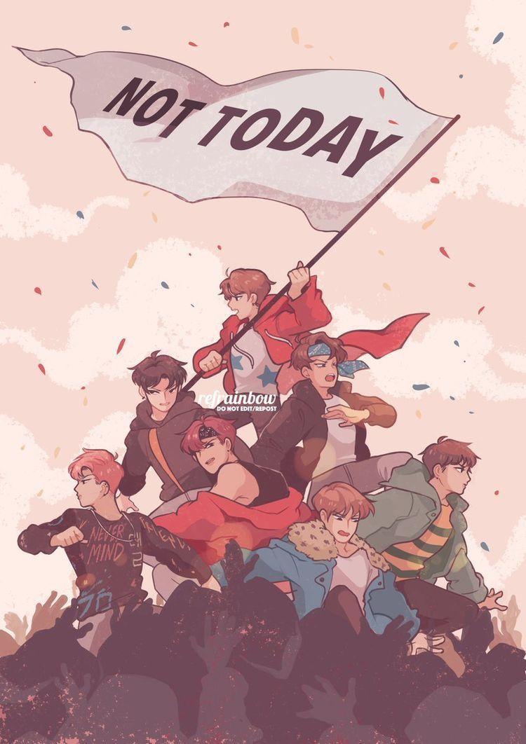 23+ Kpop Cartoon Background Images