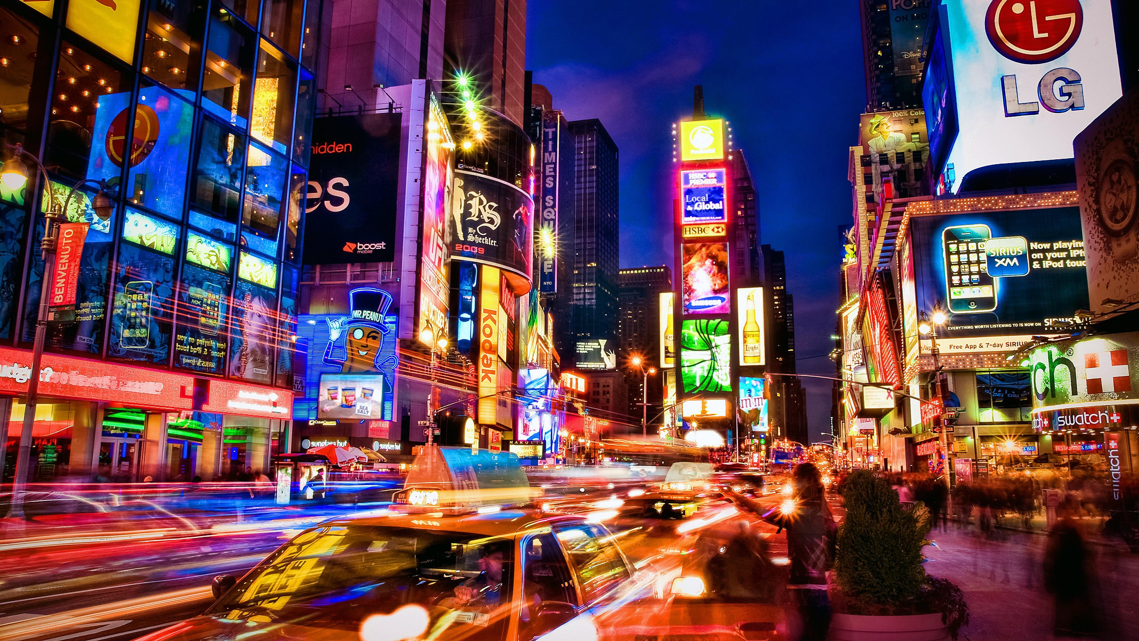 Times Square At Night Wallpapers Top Free Times Square At Night Backgrounds Wallpaperaccess