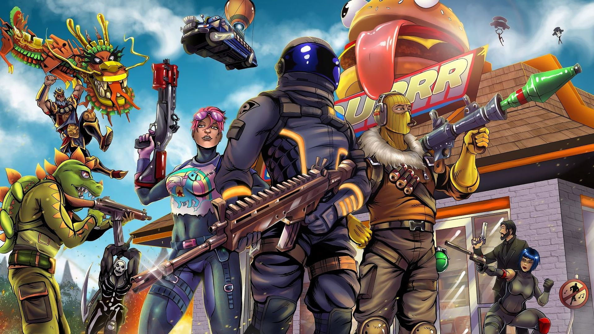 Background Battle Royale Epic Background Battle Royale Fortnite Wallpaper Manner Mobile