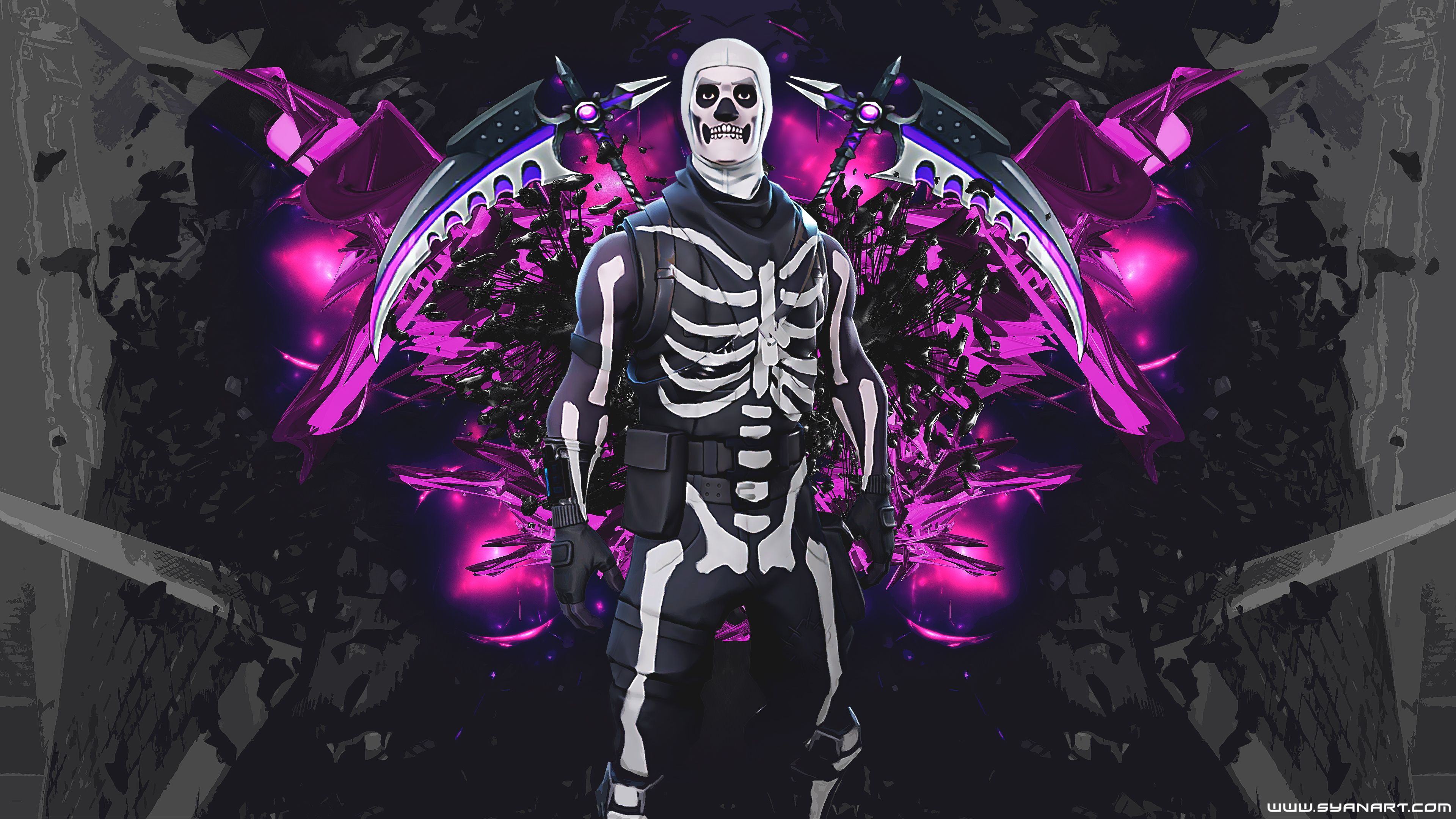 Skull Trooper Fortnite Skin Wallpapers Top Free Skull