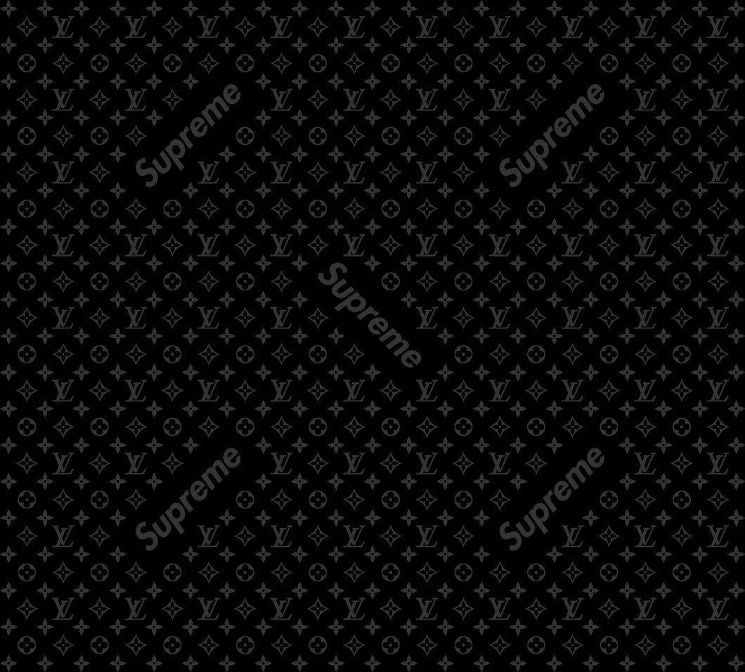 black louis vuitton wallpaper