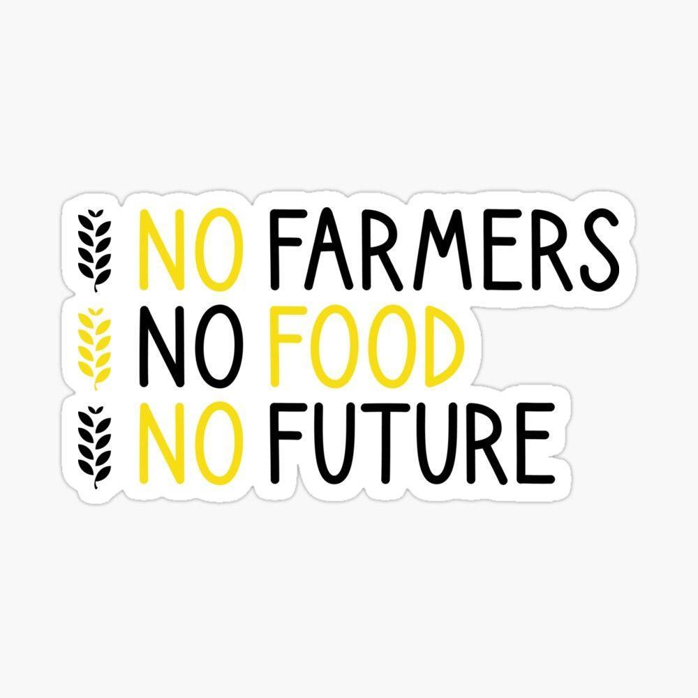 1000x1000 Không có nông dân Không có thức ăn Không có hình nền tương lai