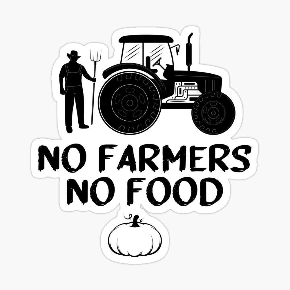 1000x1000 Không có nông dân Không có thức ăn, ý tưởng quà tặng, Hình dán năm 2021 của MedBoularouah.  Quà tặng thực phẩm, Nông dân, Biểu tượng trang trại