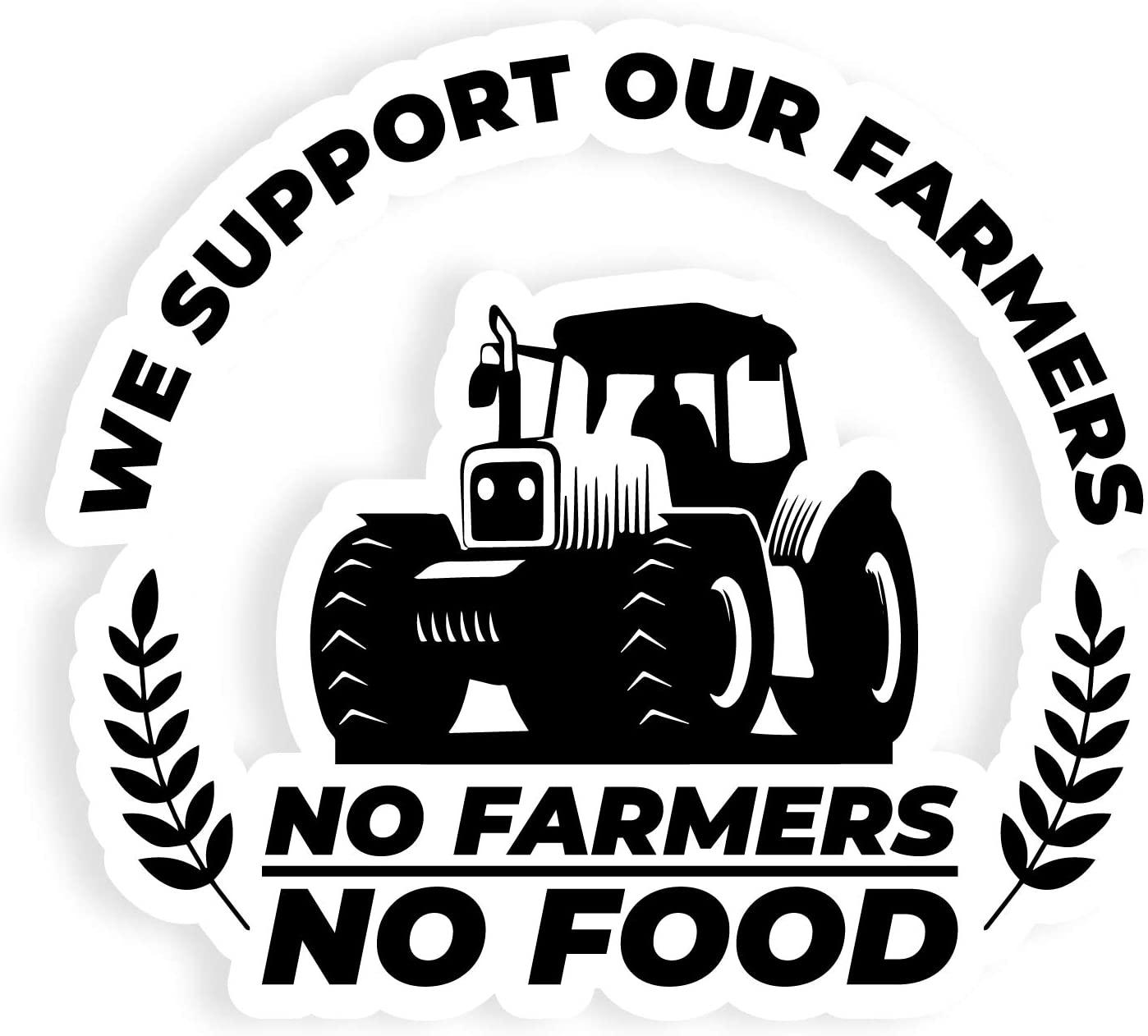 Gói 1398x1262 Không có nông dân Không có miếng dán thực phẩm 10 7 inch để sử dụng trên gương soi thân xe ô tô Máy tính xách tay Mọi bề mặt kim loại: Nhà bếp và phòng ăn