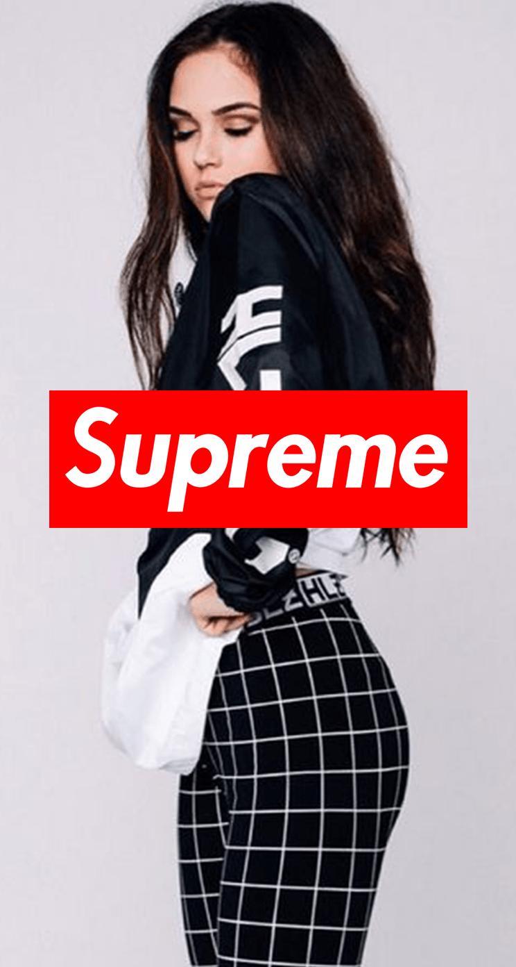 744x1392 Hot Supreme Girl Wallpaper | Обои | Pinterest | Girl wallpaper
