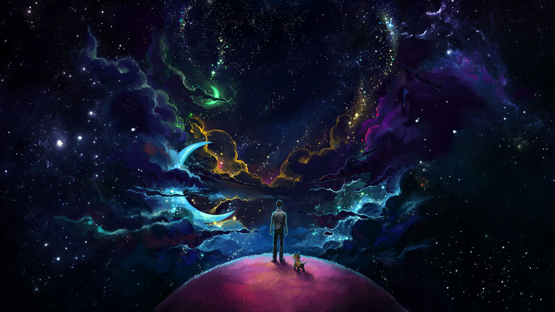 Neon Space Wallpapers Top Free Neon Space Backgrounds Wallpaperaccess