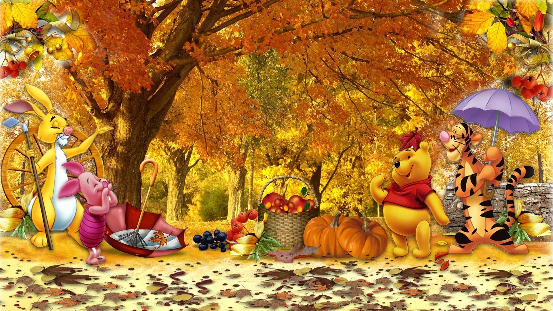 Winnie the Pooh Thanksgiving Wallpapers - Top Free Winnie ...
