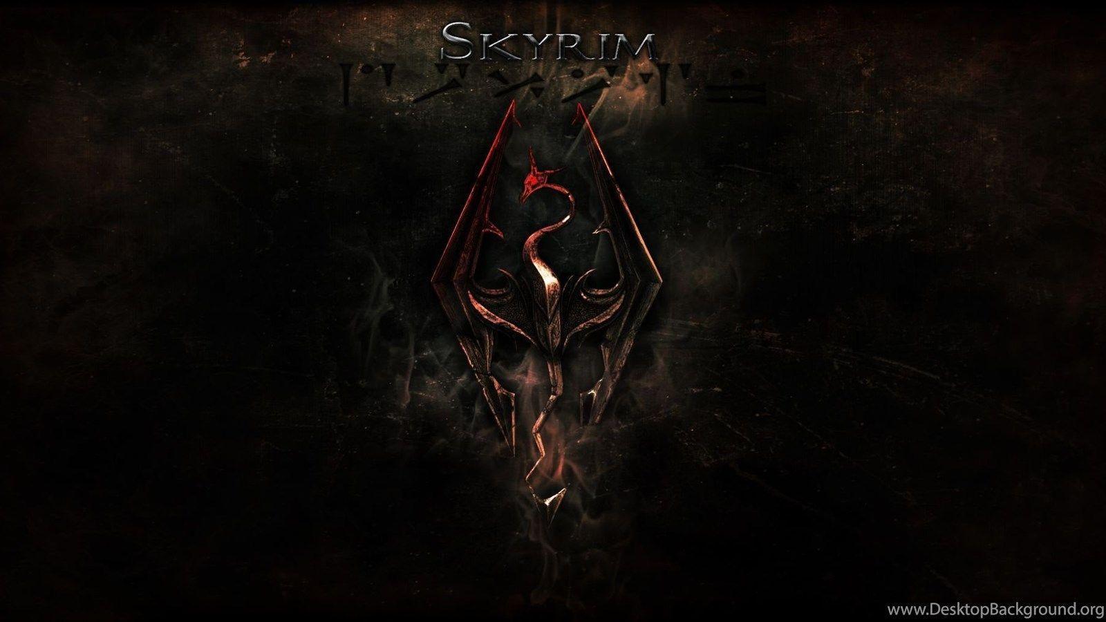 Skyrim Logo Wallpapers Top Free Skyrim Logo Backgrounds