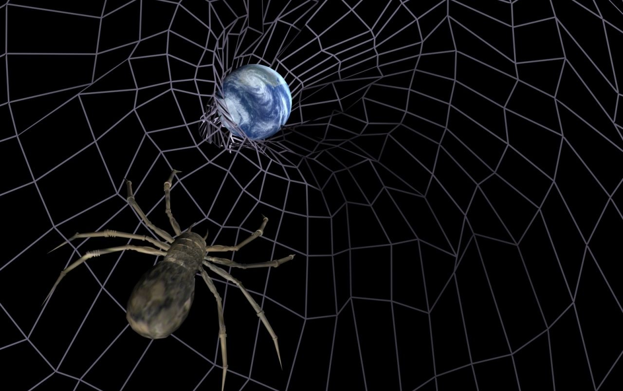 Moving space wallpapers top free moving space - Moving spider desktop ...
