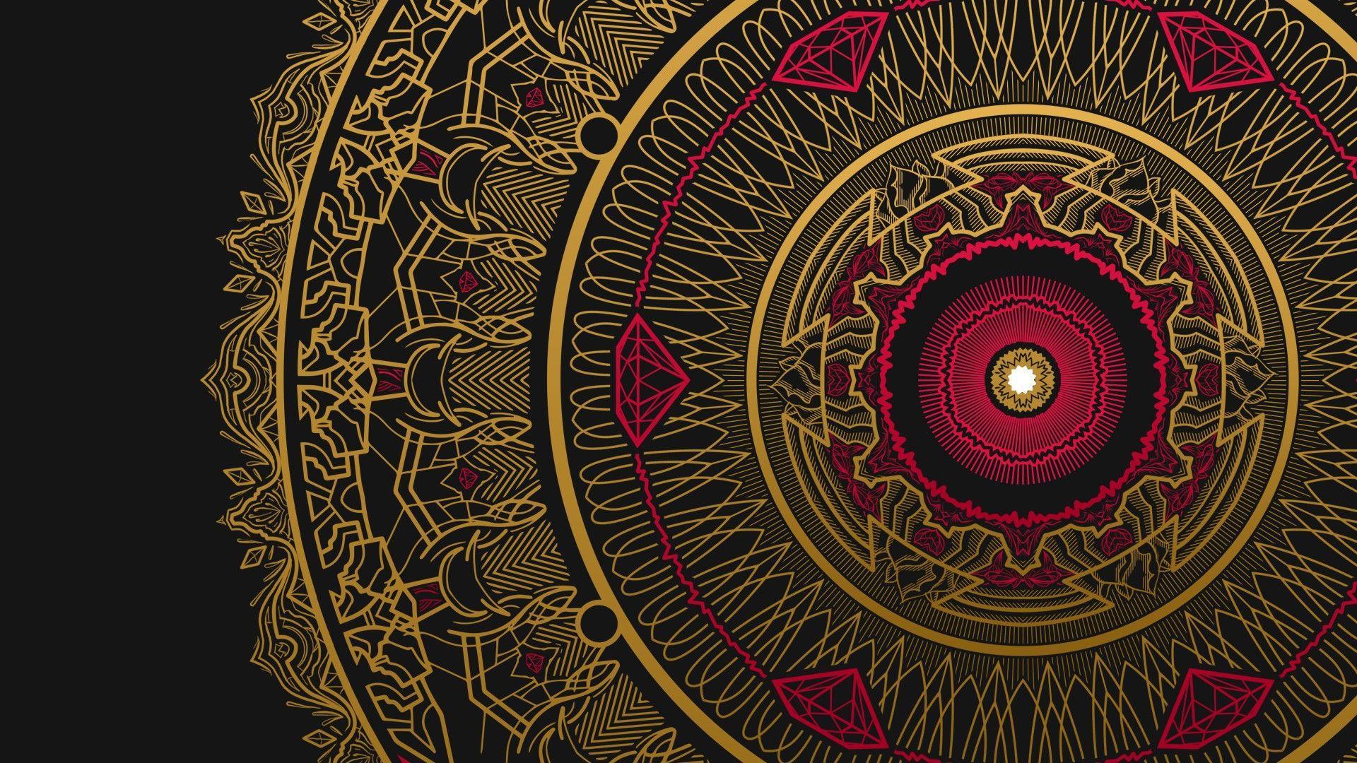 1920x1080 Mandala hình nềnTải xuống miễn phí Độ phân giải cao tuyệt vời