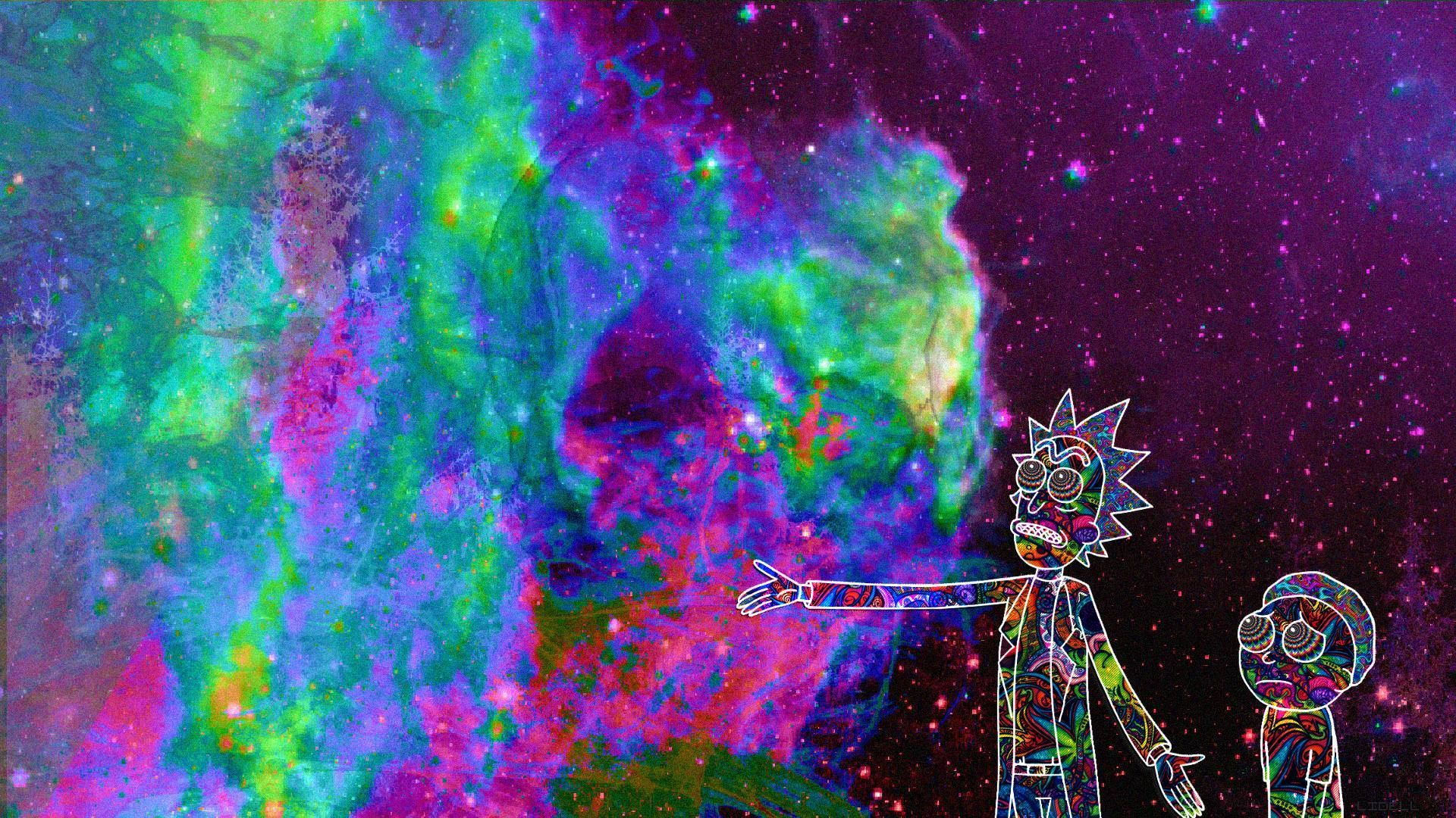 Rick And Morty Trippy Computer Wallpapers Top Free Rick And Morty Trippy Computer Backgrounds Wallpaperaccess