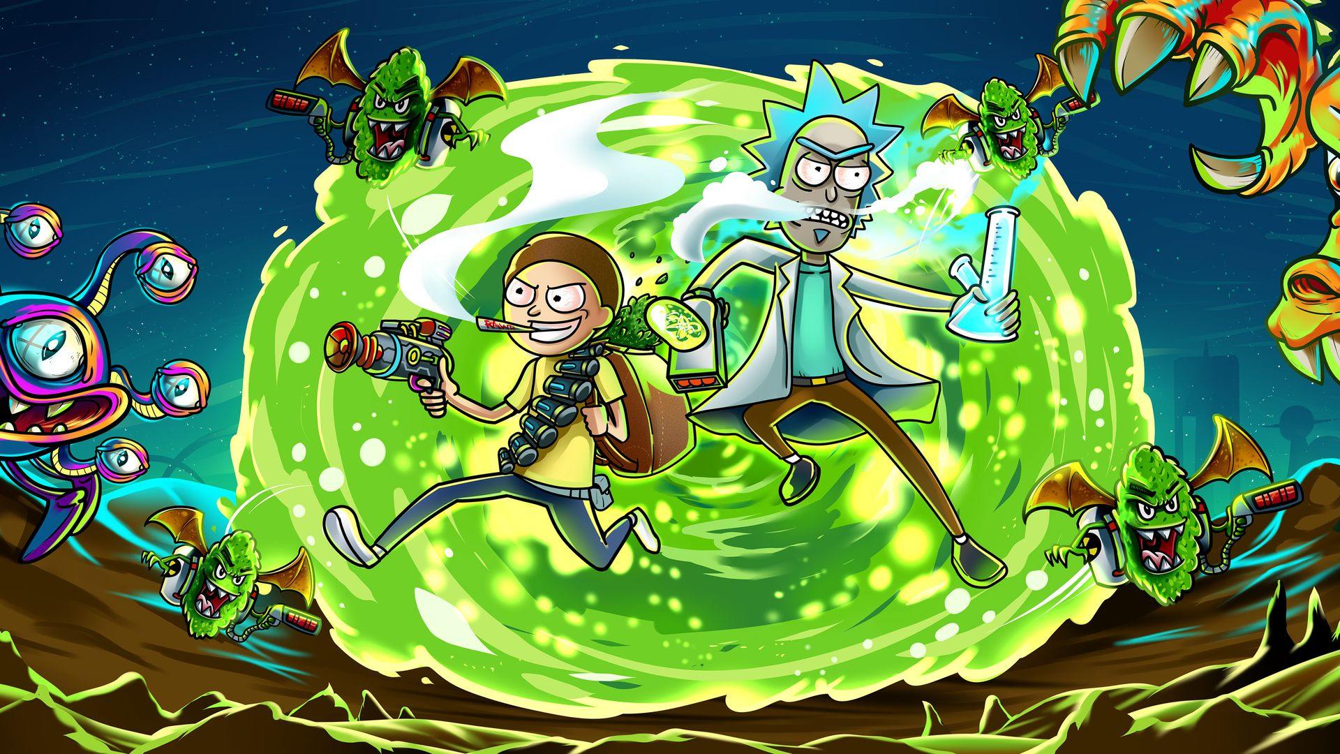 58 Best Free Rick And Morty 1920x1080 Wallpapers Wallpaperaccess