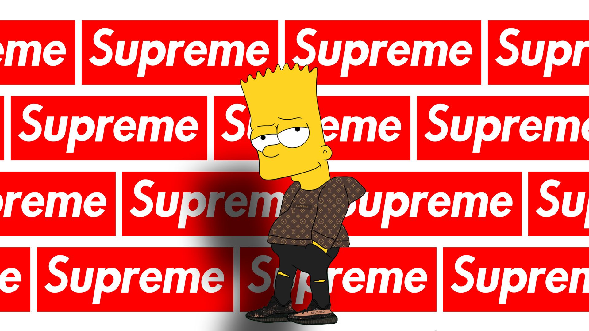 Supreme Bart Simpson Wallpapers Top Free Supreme Bart