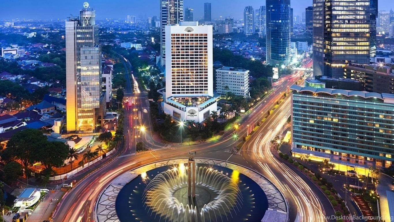 1366x768 Wallpapers Jakarta Night View Indonesia City Pictures 1366x768 .