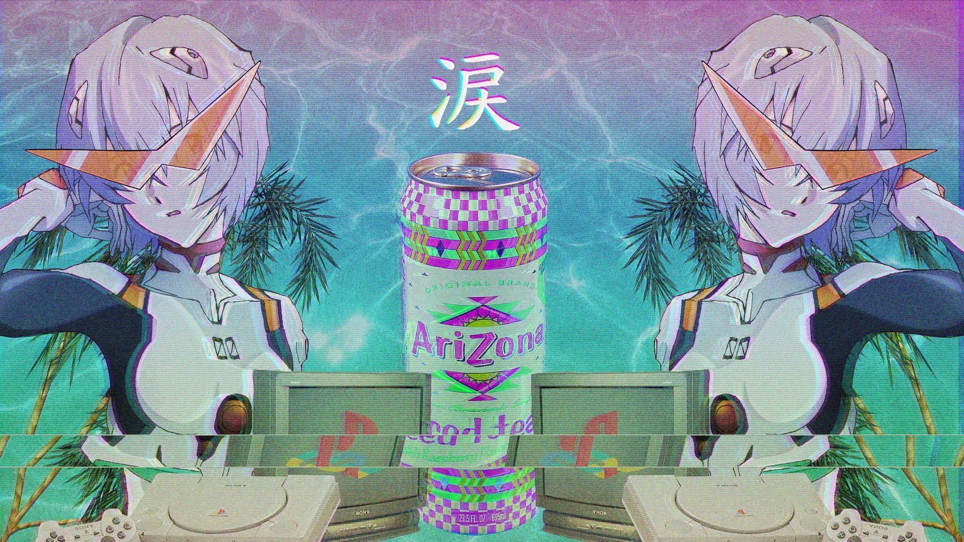 Anime Vaporwave Desktop Wallpapers Top Free Anime Vaporwave Desktop Backgrounds Wallpaperaccess