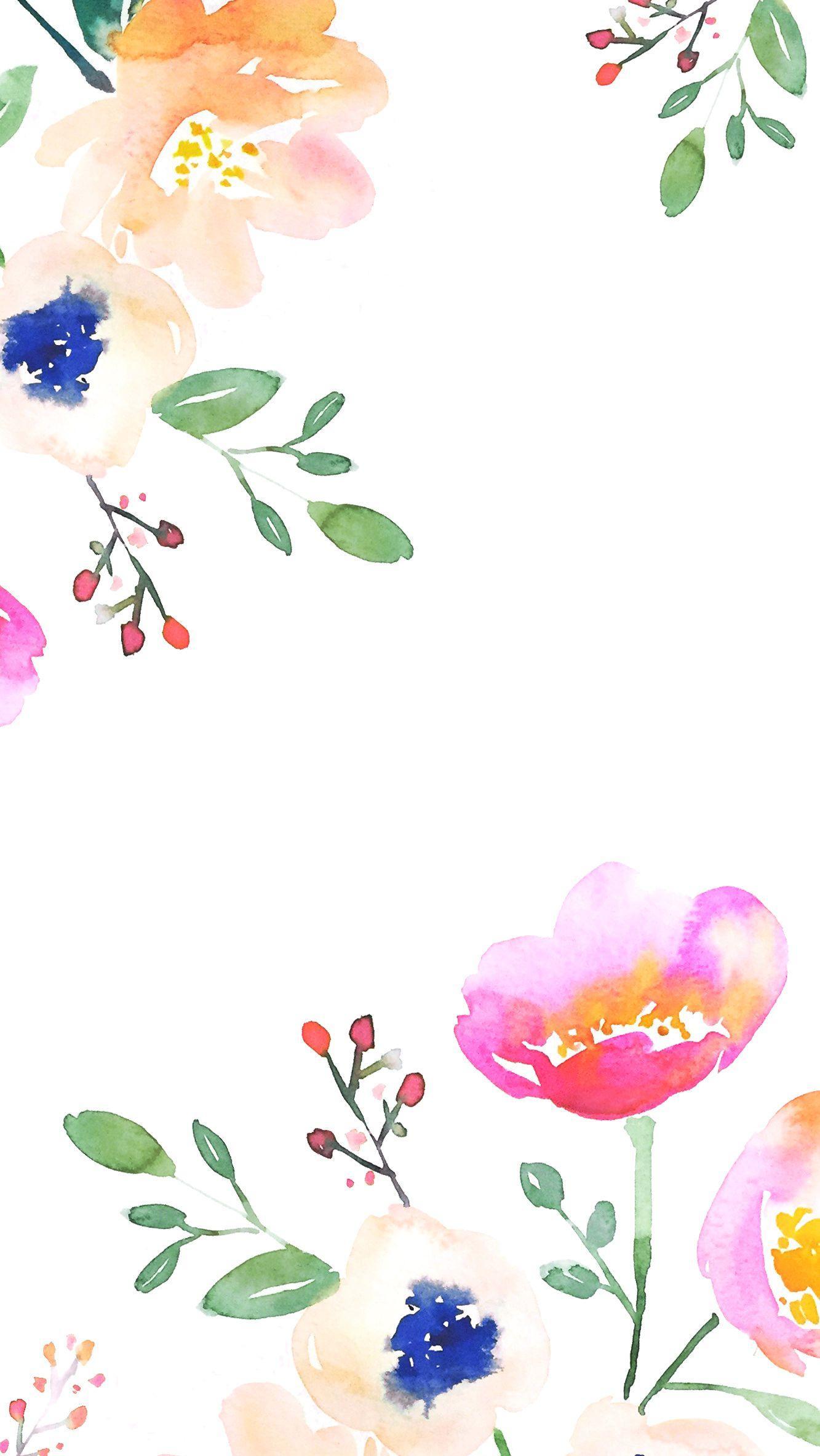 Watercolor Flower Iphone Wallpapers Top Free Watercolor Flower