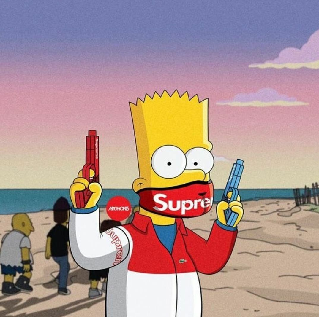 Supreme Simpson Cartoon Wallpapers Top Free Supreme Simpson