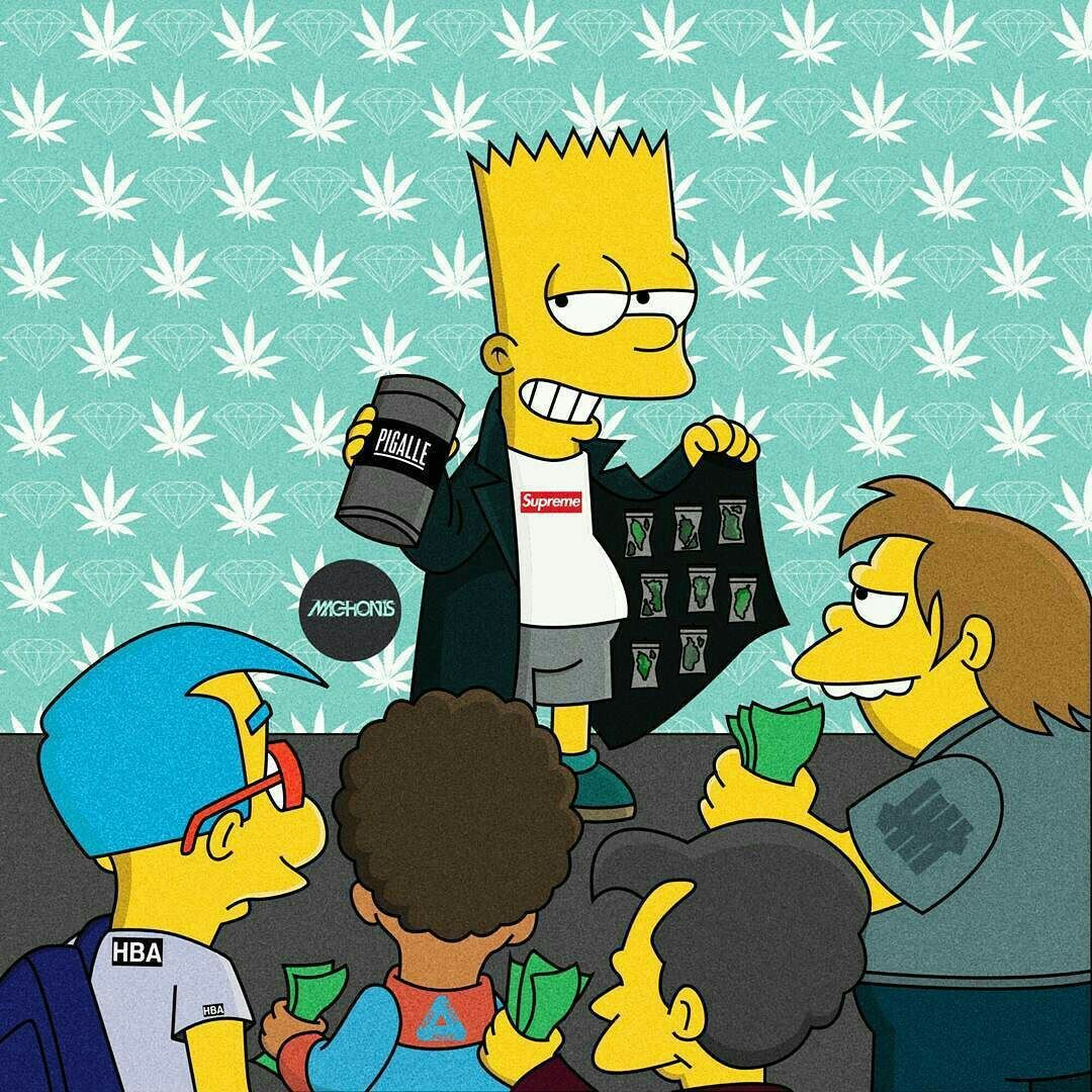 White Bart Simpson Supreme Wallpapers Top Free White Bart Simpson