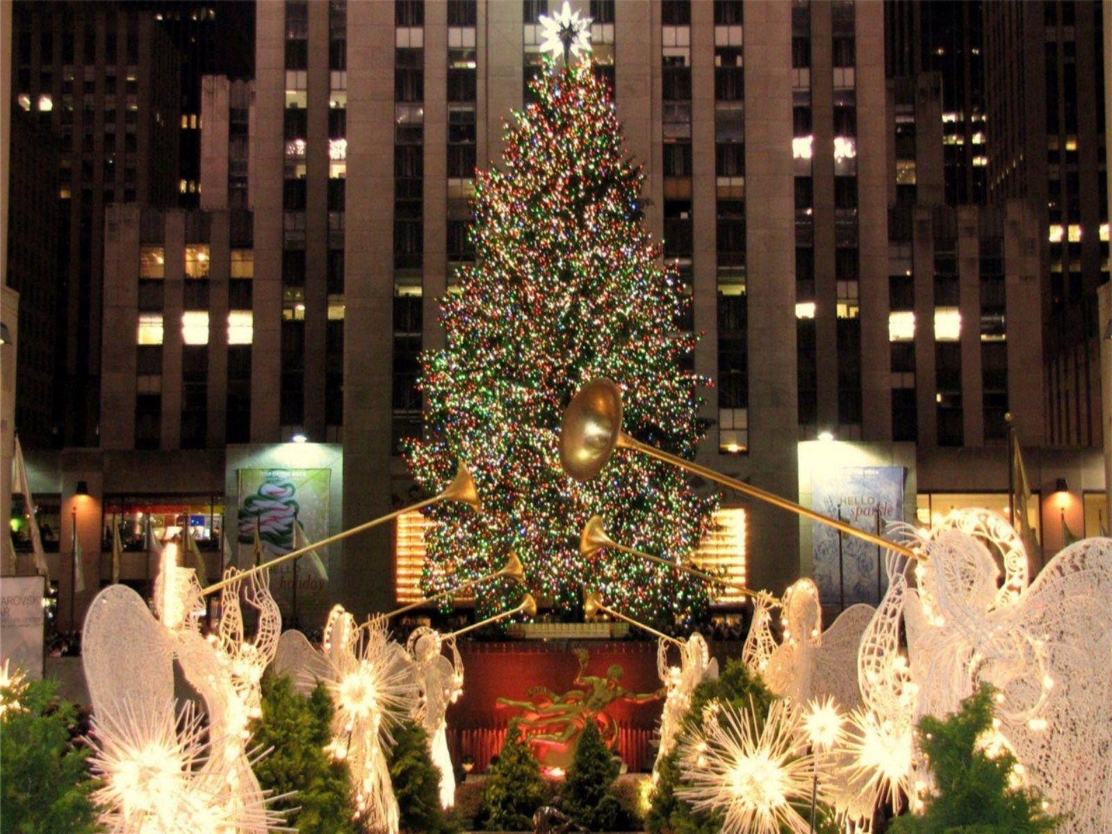 New York Times Square Christmas Tree Wallpapers Top Free New York