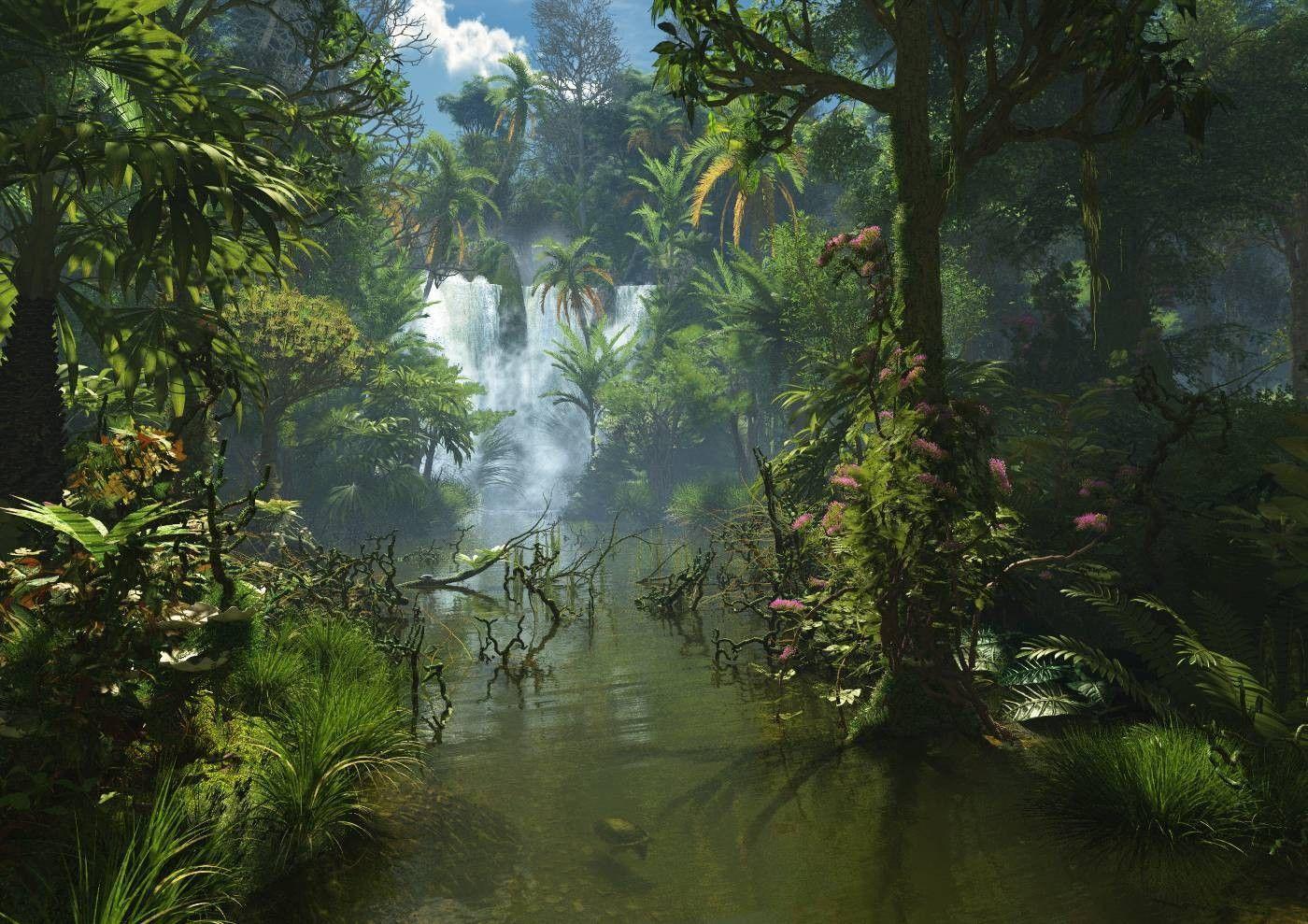 Jungle Waterfall Wallpaper Hd: Top Free Jungle Rain Backgrounds