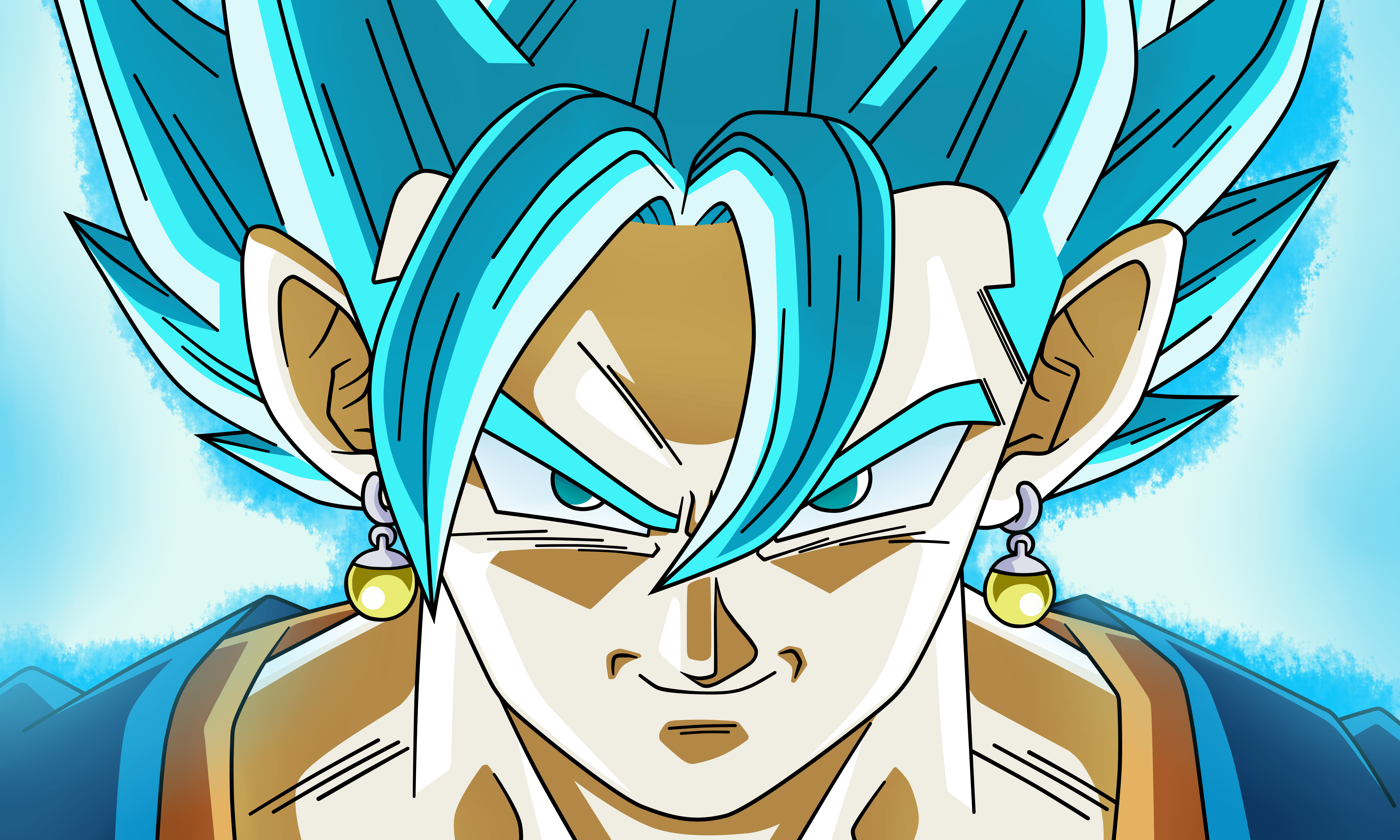 Vegito Wallpapers Top Free Vegito Backgrounds Wallpaperaccess