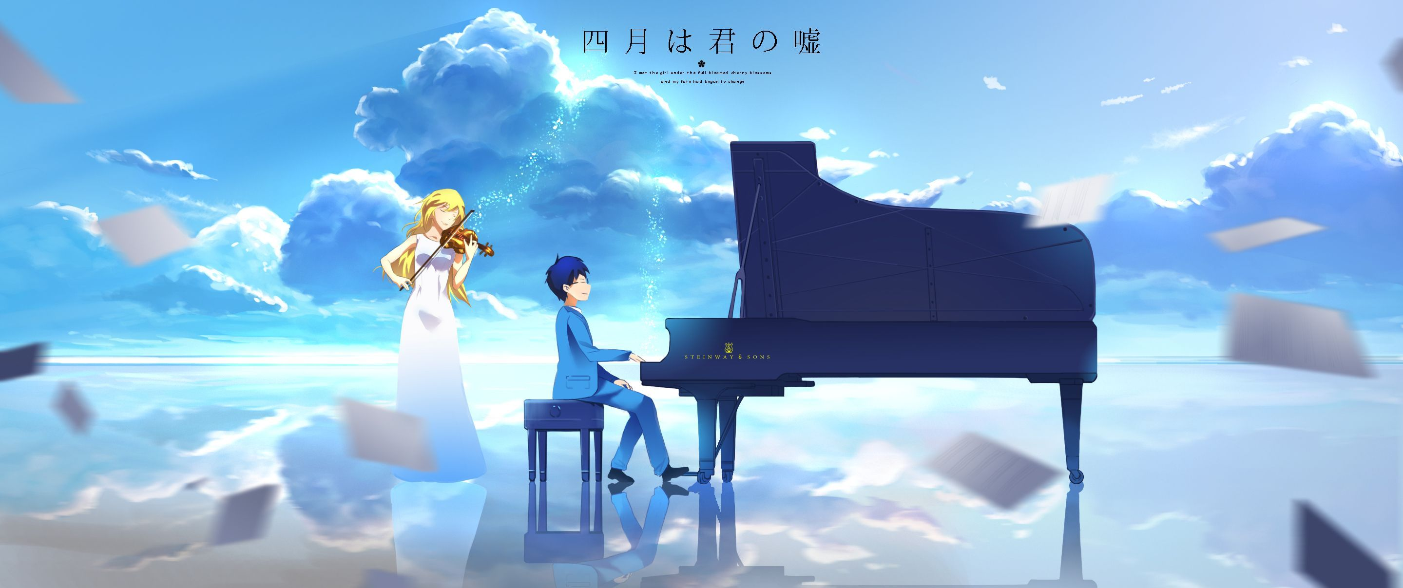 Your Lie In April Piano Wallpapers Top Free Your Lie In April Piano Backgrounds Wallpaperaccess