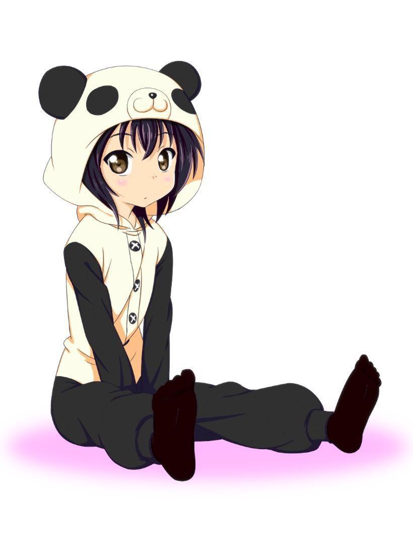 Cute Anime Panda Girl Wallpaper
