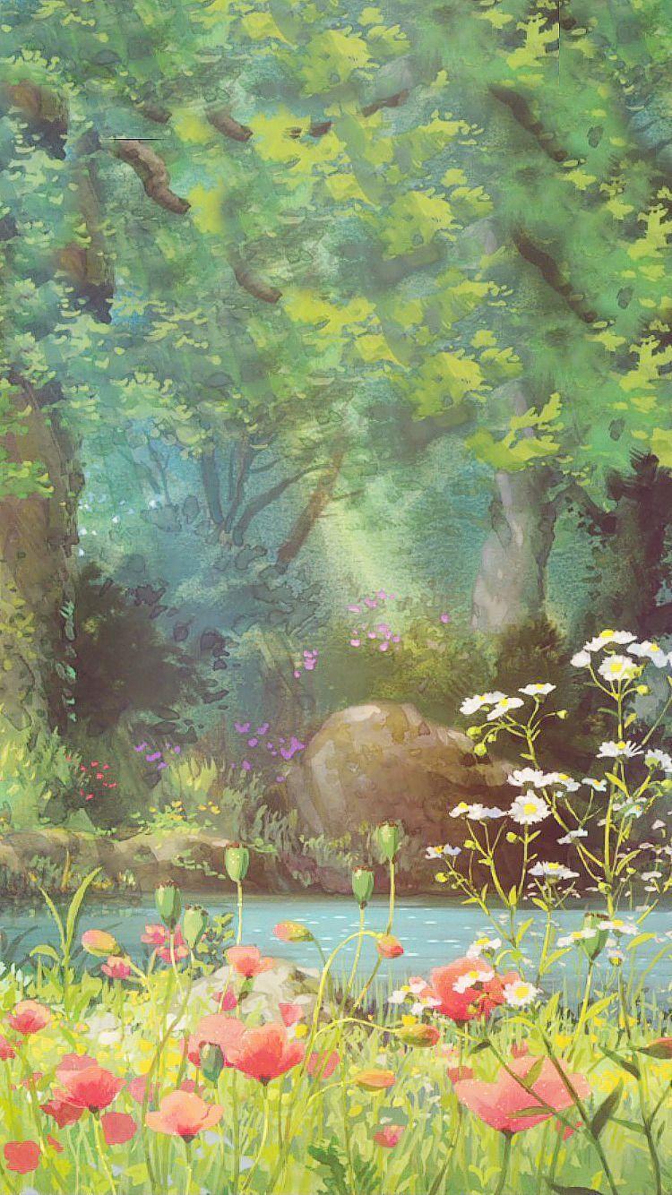 Studio Ghibli Scenery Iphone Wallpapers Top Free Studio Ghibli
