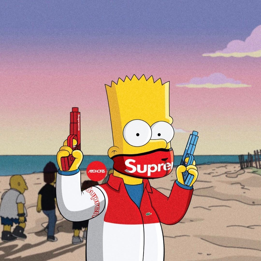 Supreme Bart Simpson Wallpapers