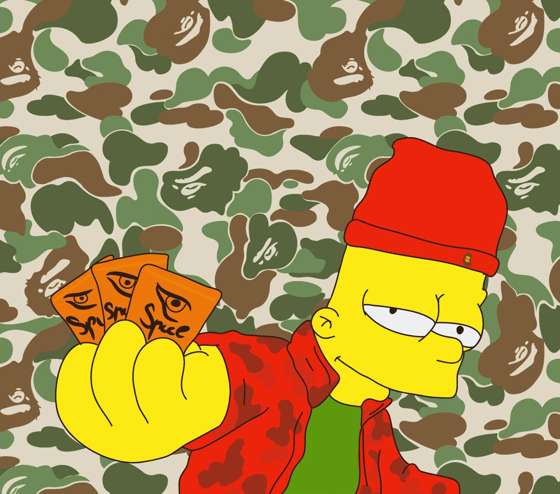 Supreme BAPE Bart Simpson Wallpapers - Top Free Supreme ...