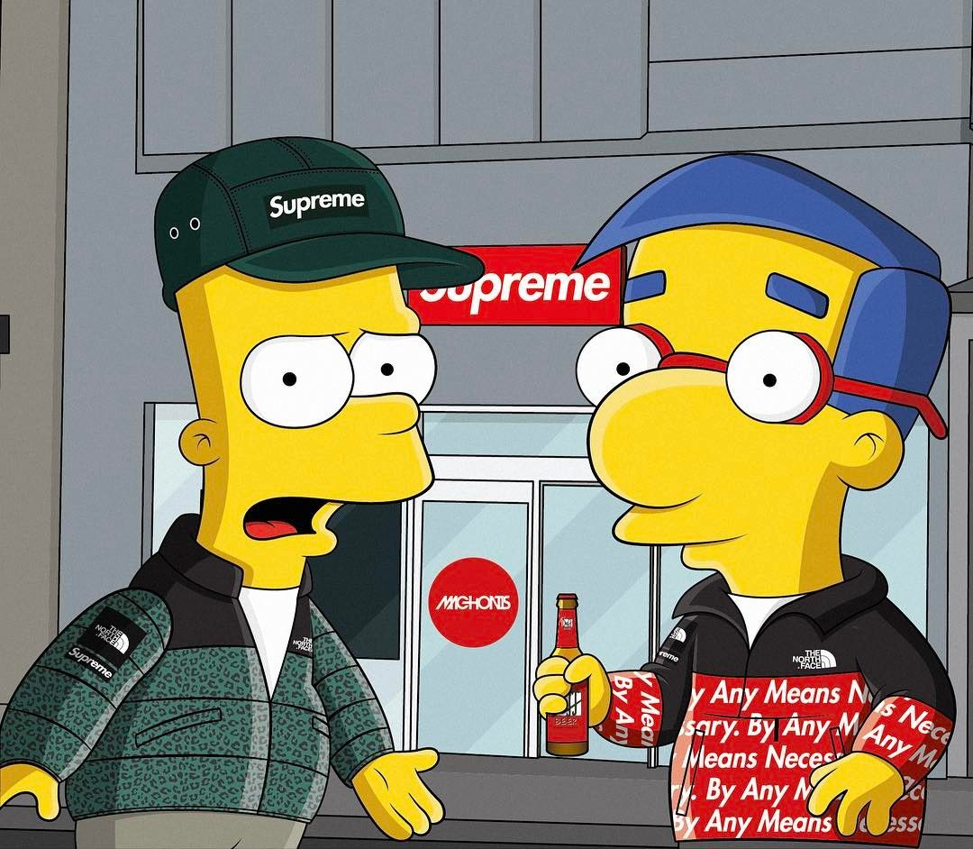 Supreme Simpson Cartoon Wallpapers Top Free Supreme