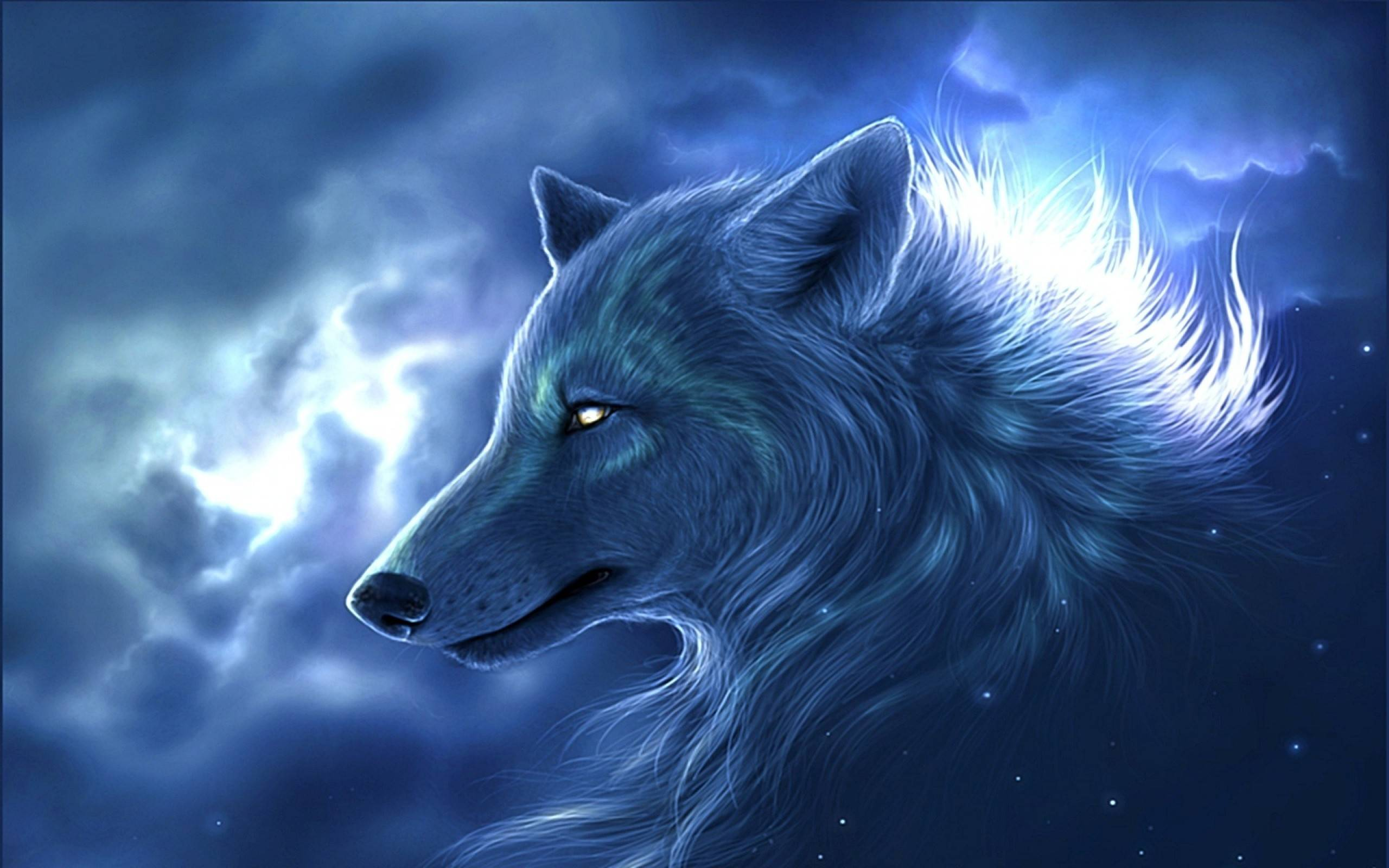 Blue Anime Wolf Wallpapers Top Free Blue Anime Wolf