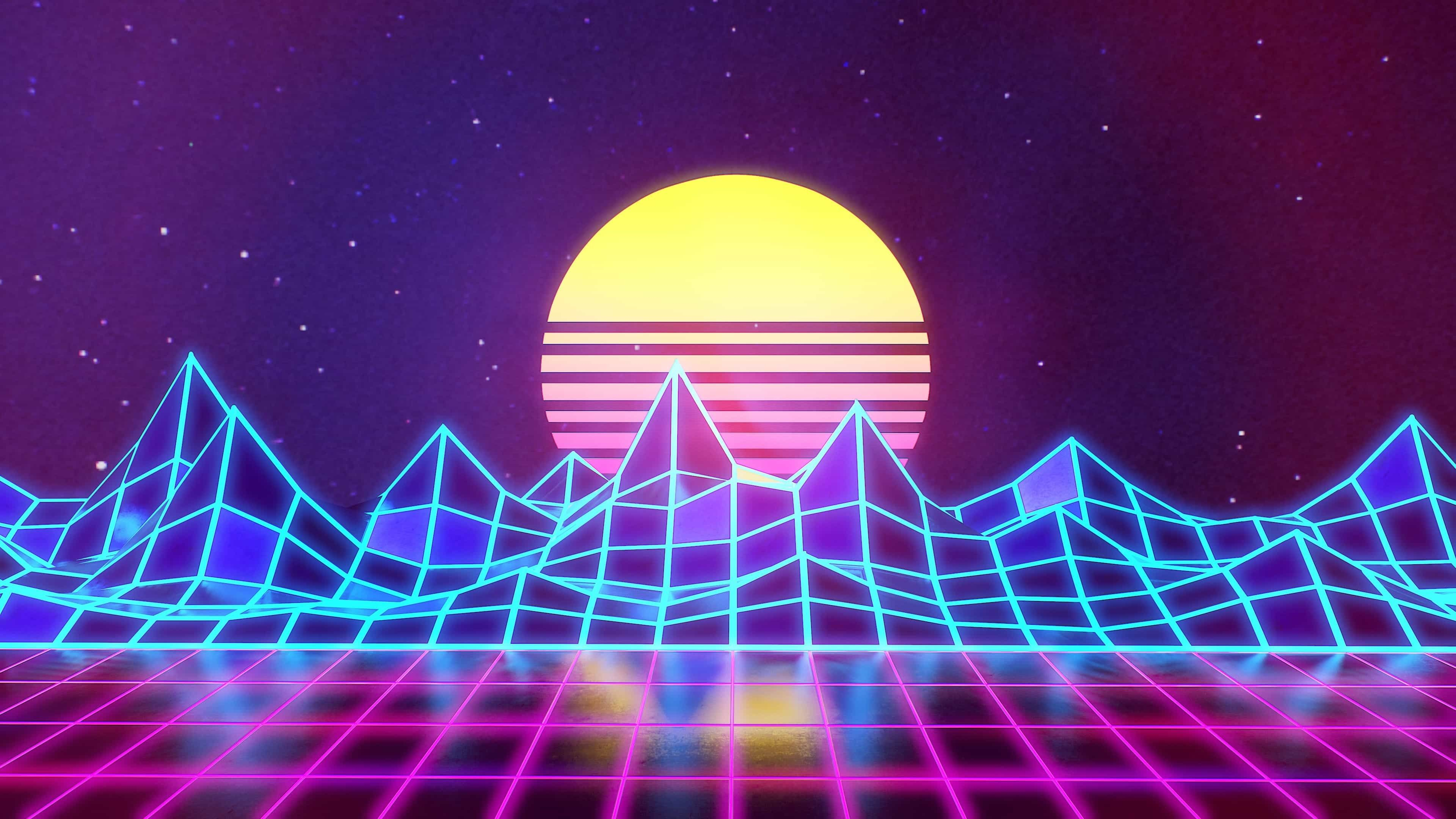 80s Neon Wallpapers Top Free 80s Neon Backgrounds Wallpaperaccess