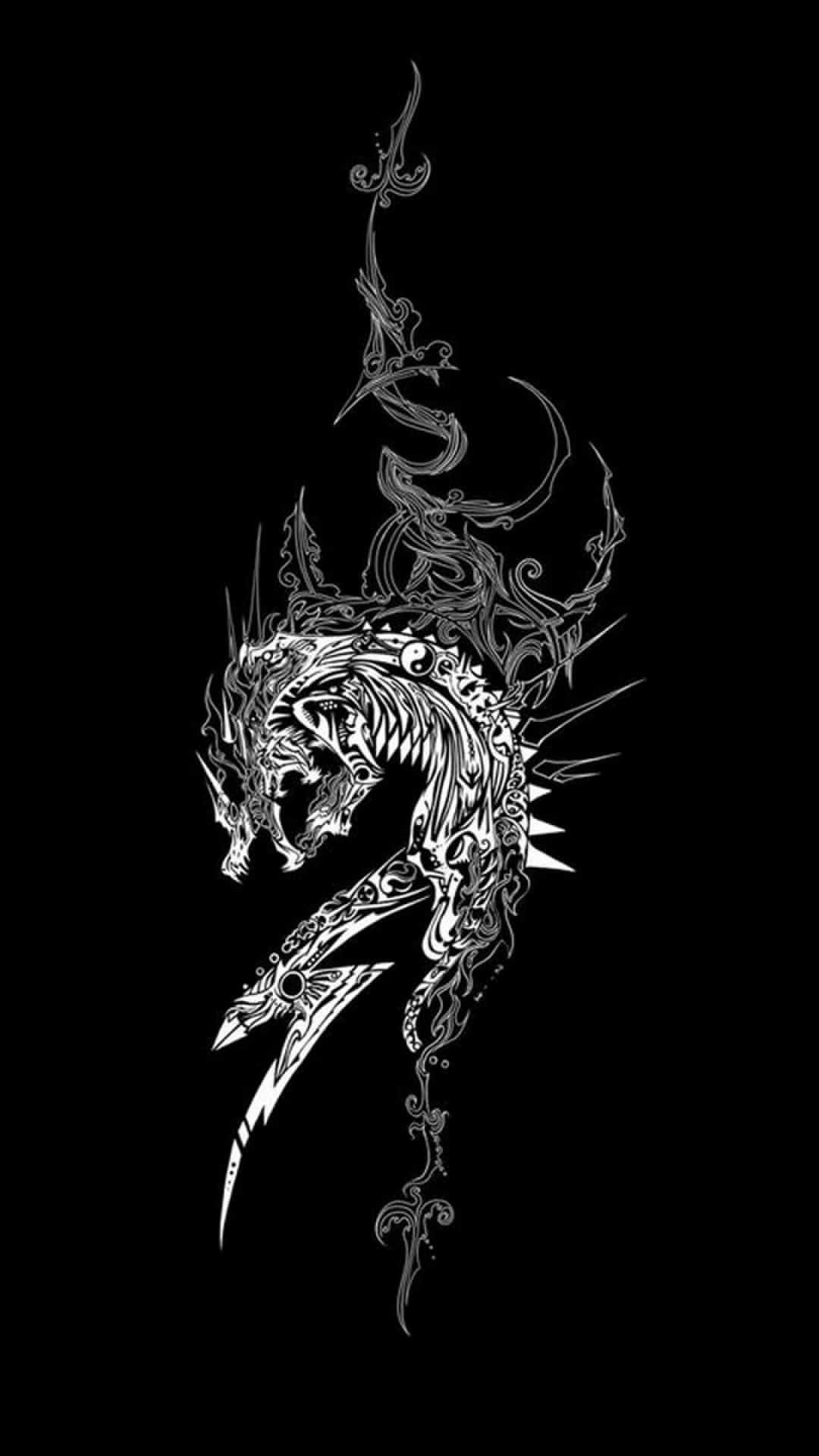 Dragon Black And White Wallpapers Top Free Dragon Black