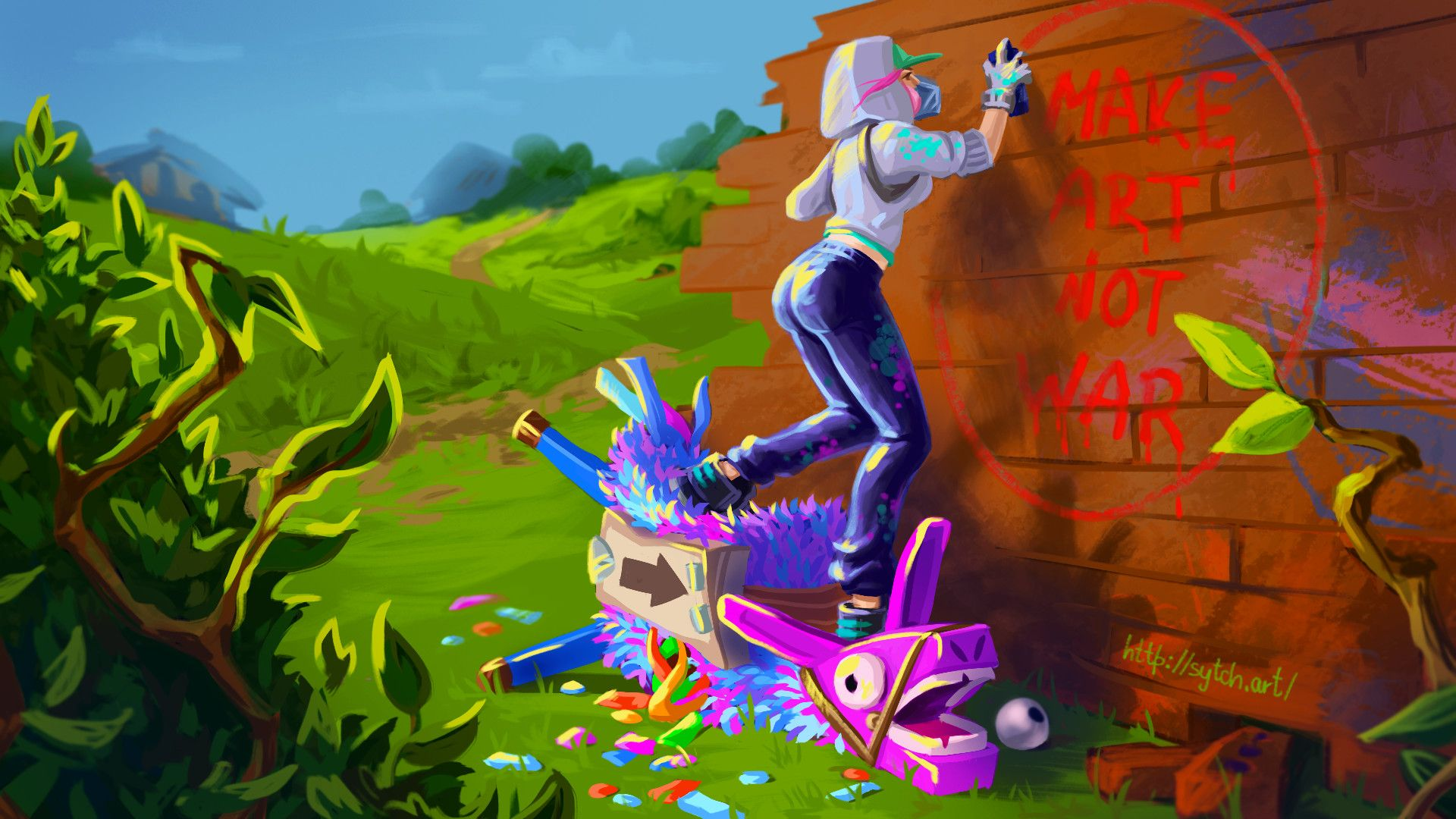 Llama spotted fortnite wallpapers top free llama spotted - Fortnite llama background ...