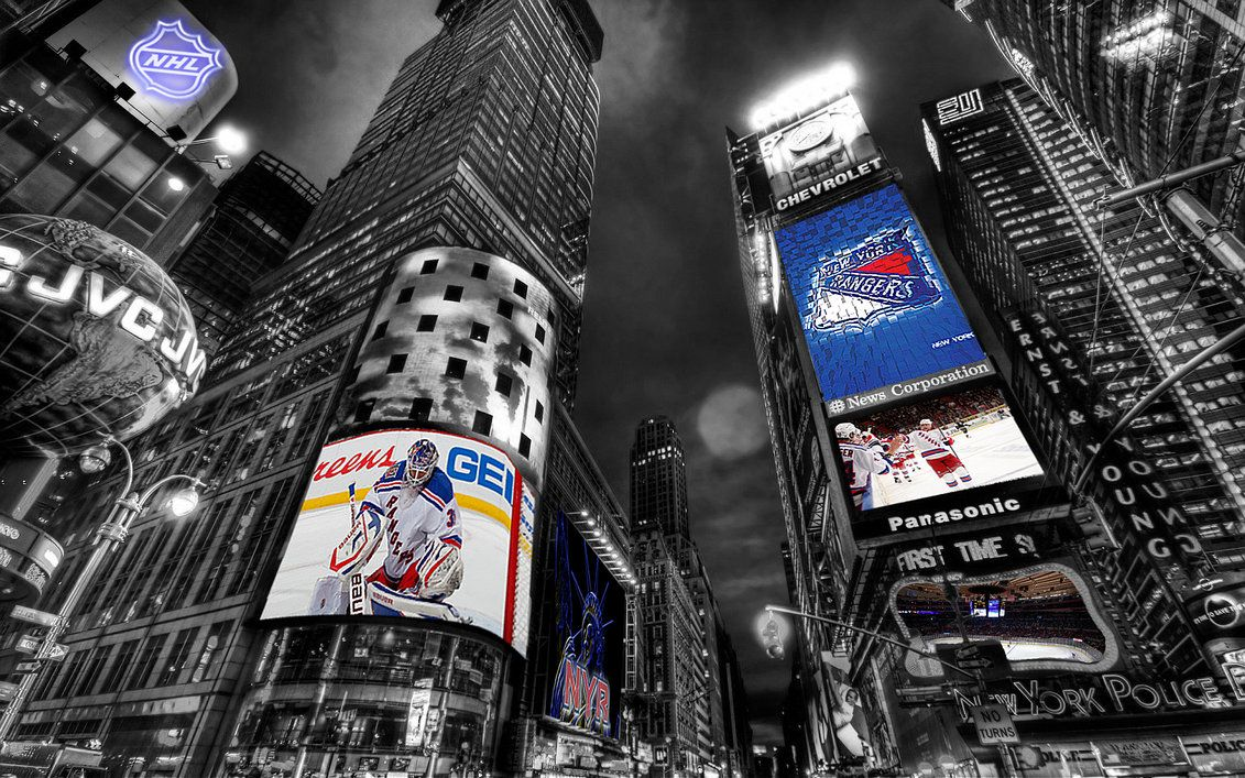1131x707 NHL New York Rangers Times Square Wallpaper by Realyze on DeviantArt