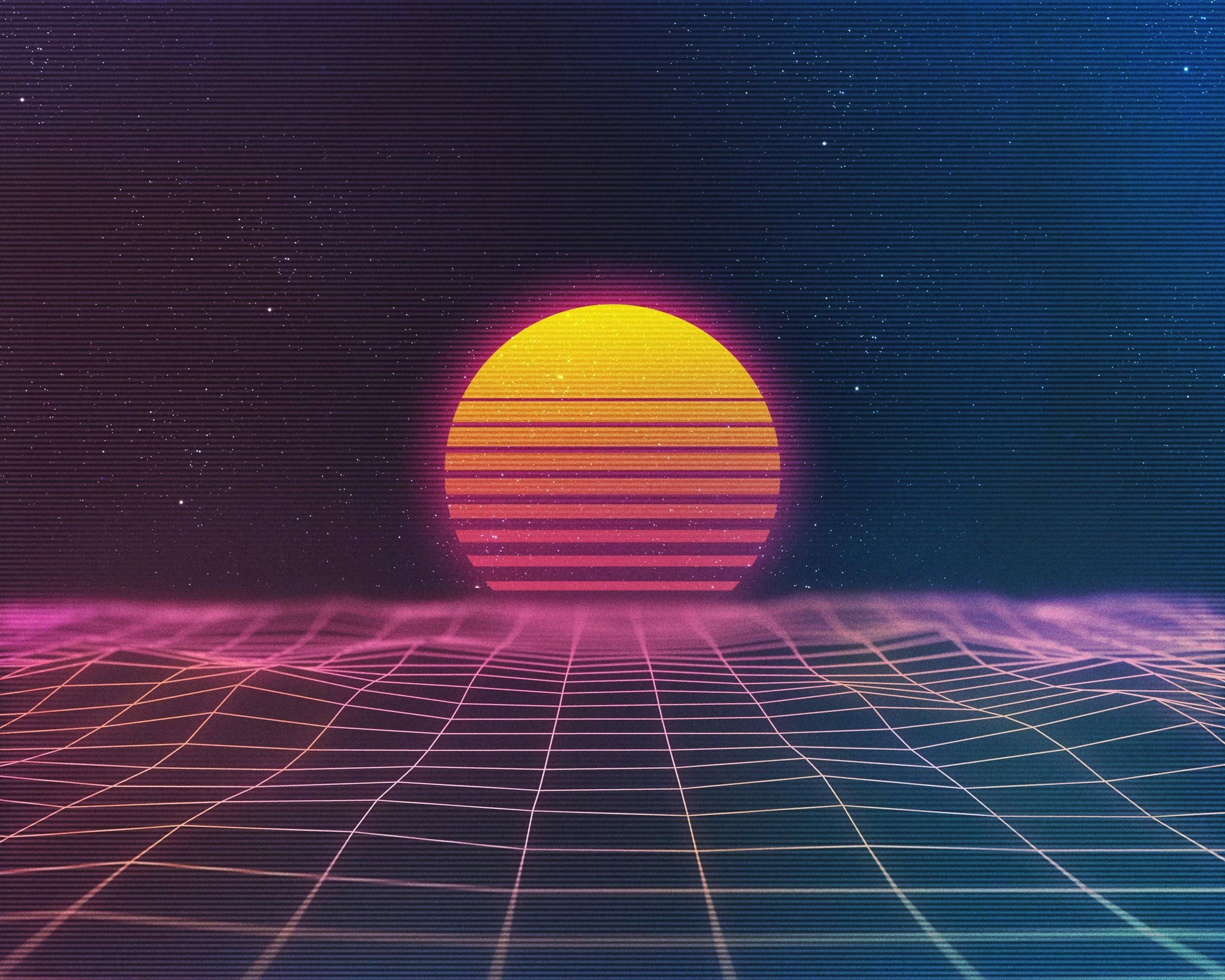 Retro Sunset Wallpapers Top Free Retro Sunset Backgrounds Wallpaperaccess