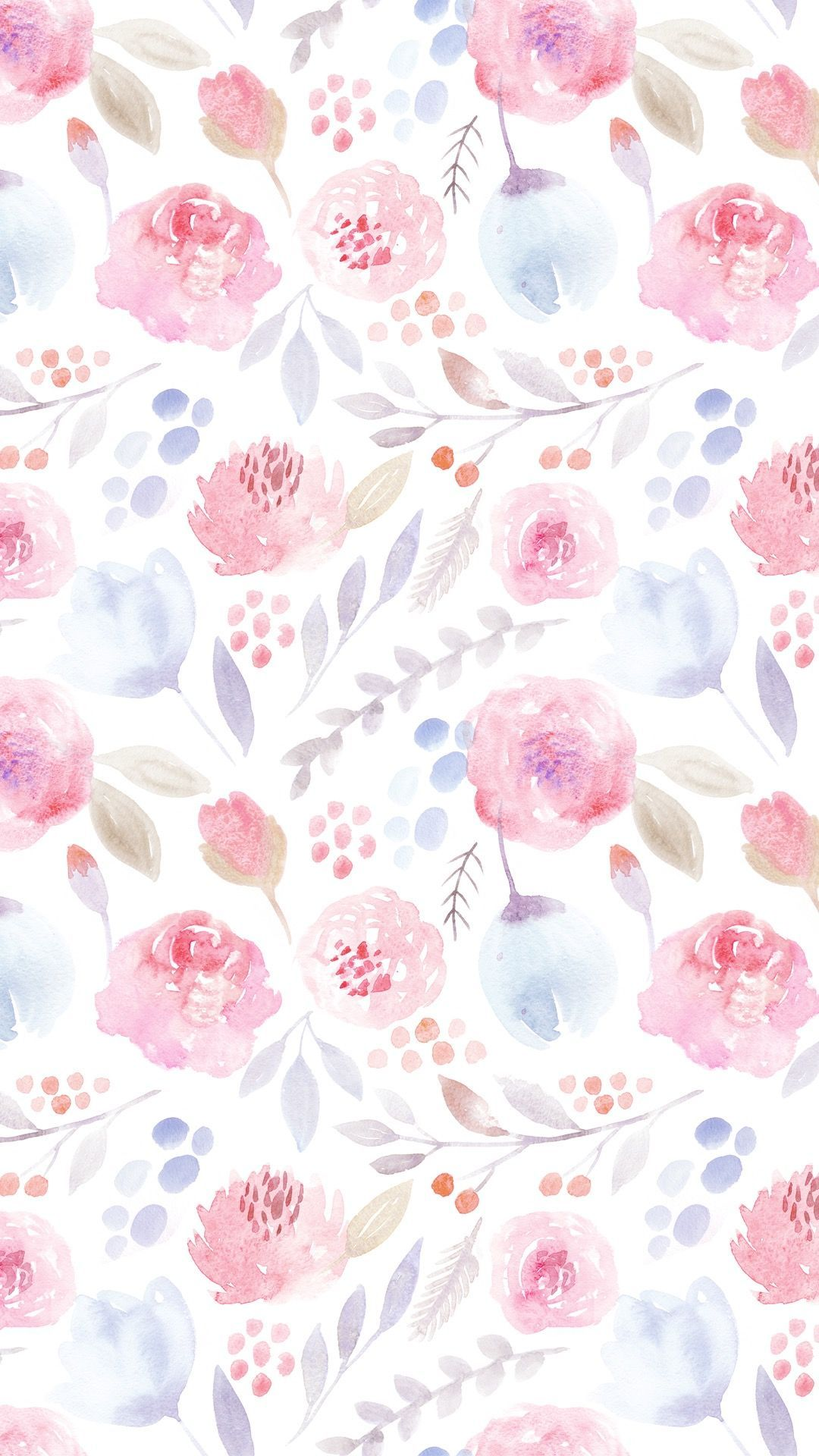 Watercolor Flower Phone Wallpapers Top Free Watercolor Flower