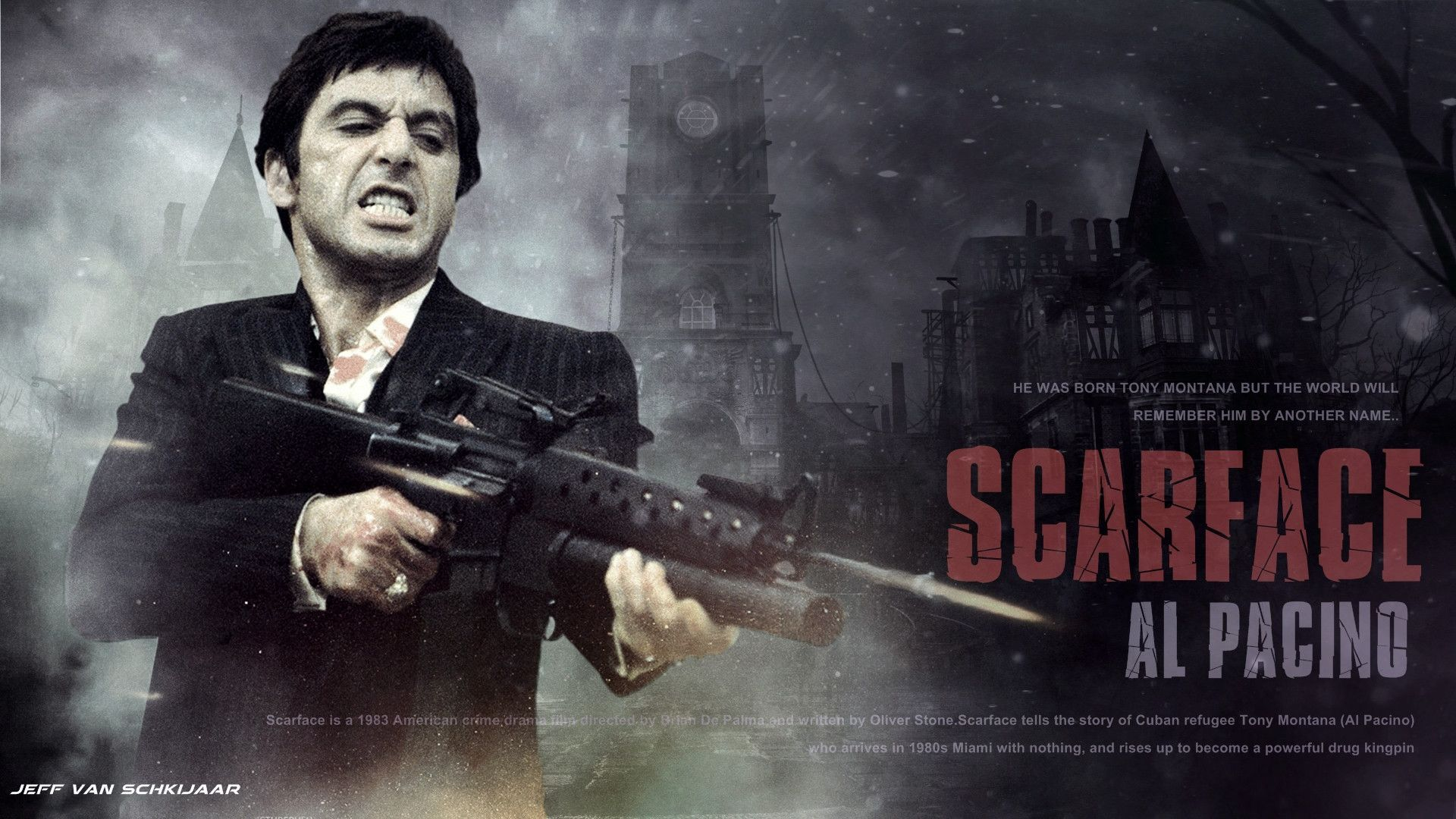Scarface Sitting Wallpapers Top Free Scarface Sitting