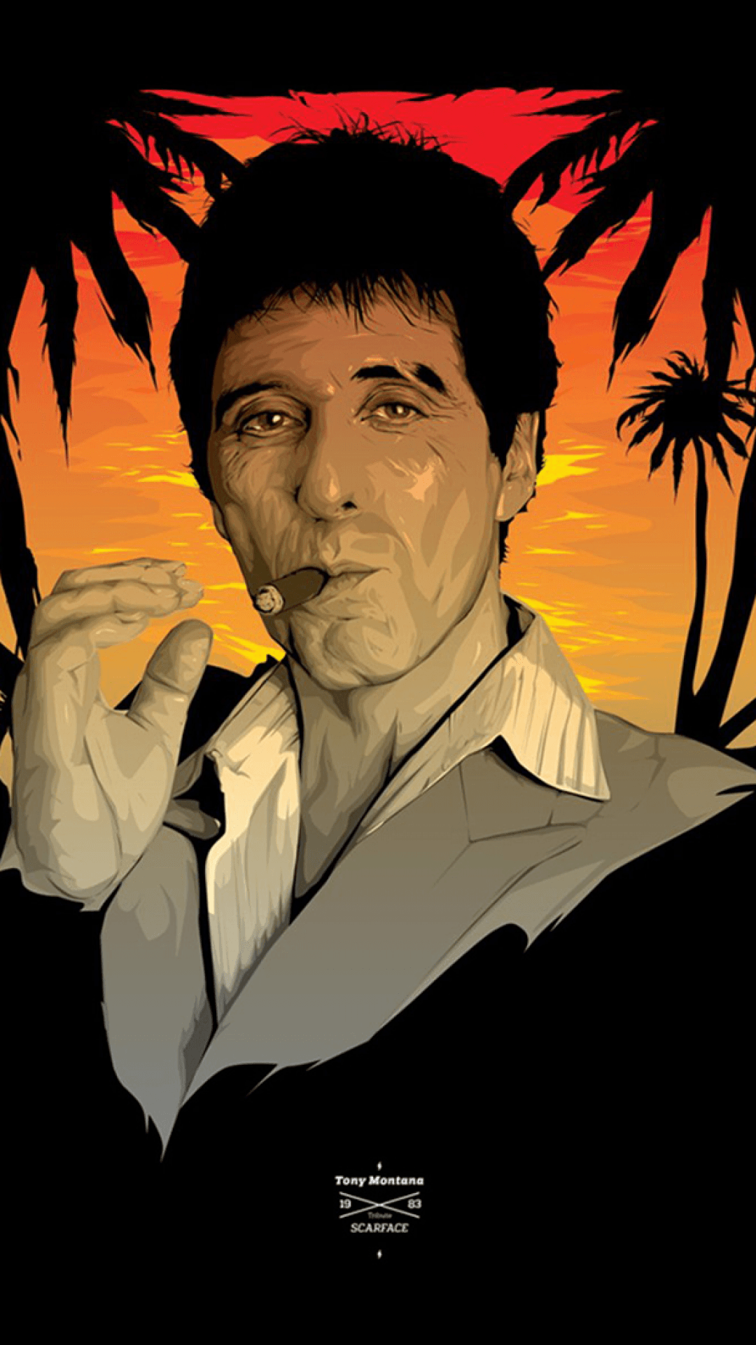 Scarface sitting wallpapers top free scarface sitting - Scarface background ...
