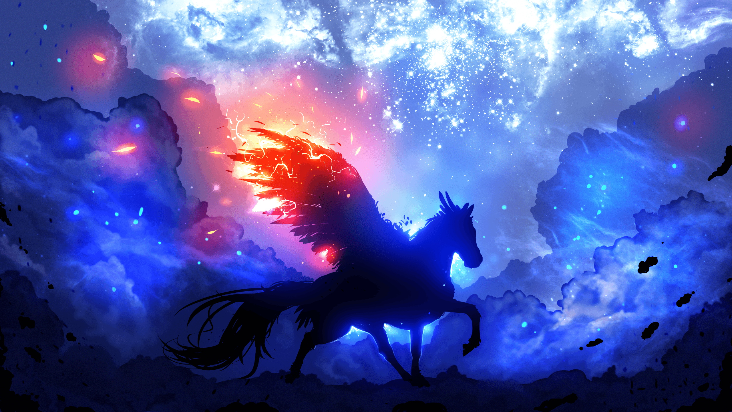 Horse Galaxy Wallpapers Top Free Horse Galaxy Backgrounds Wallpaperaccess