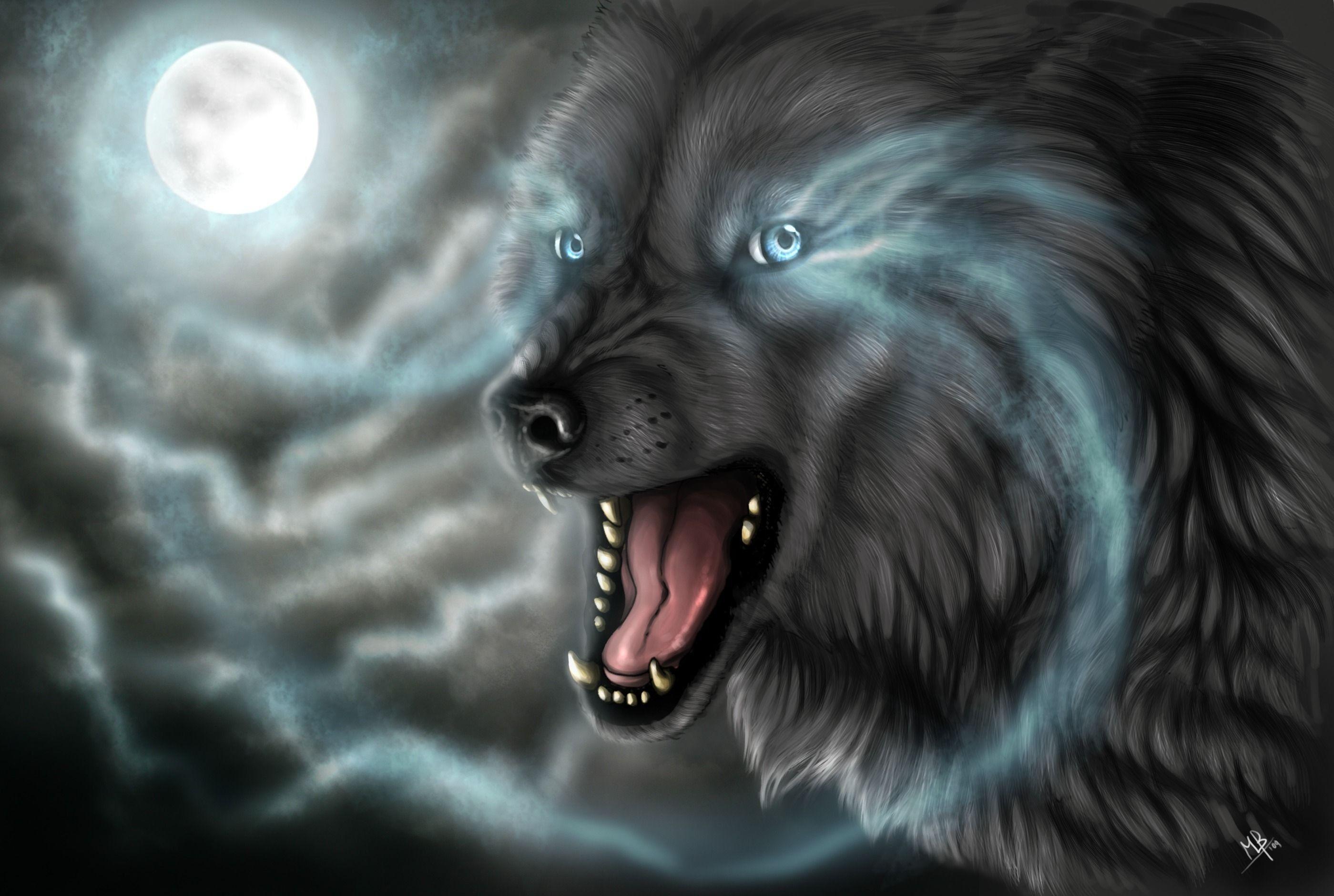 57 Best Free Dark Evil Wolf Wallpapers