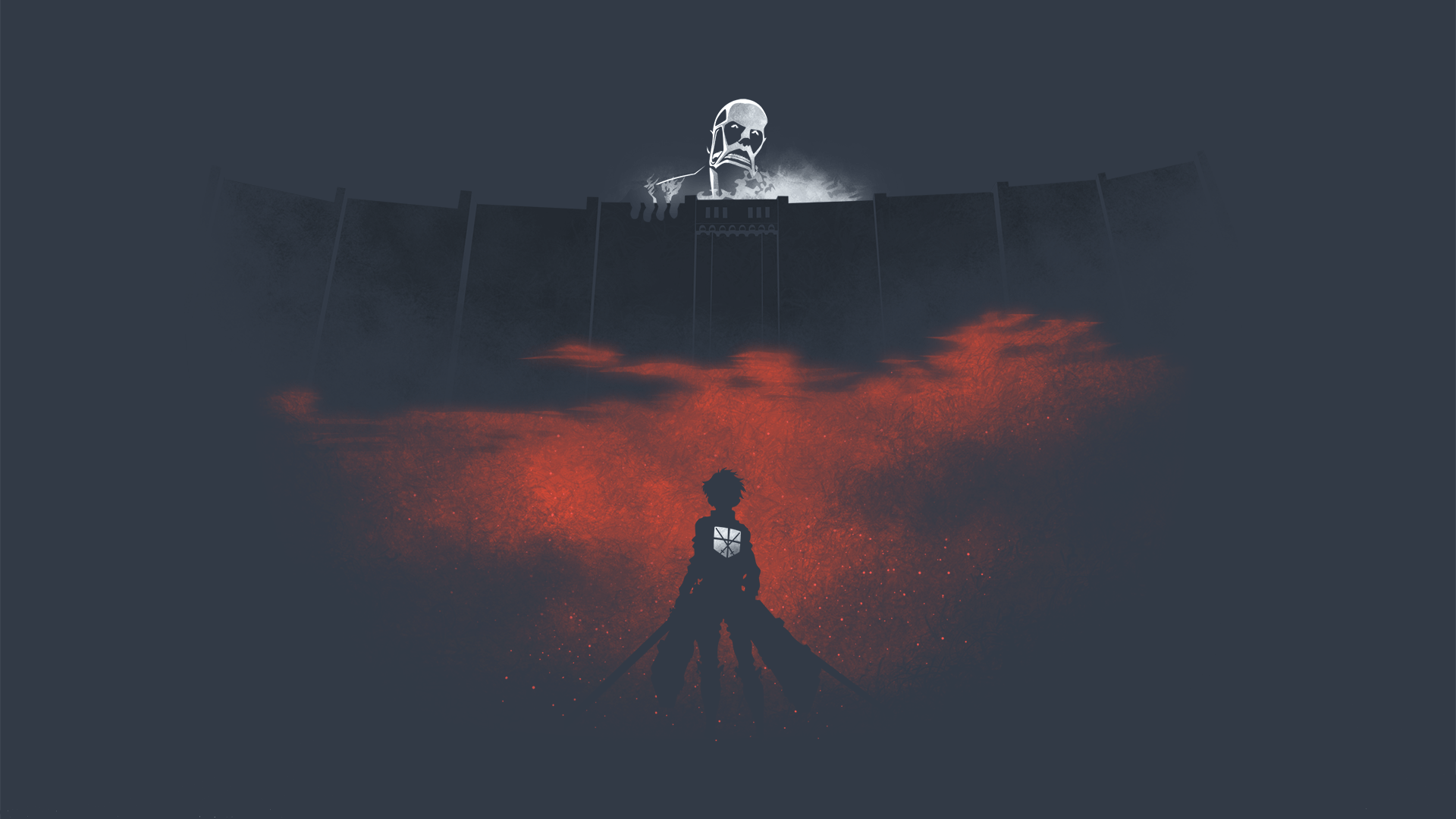 Attack On Titan Minimalist Wallpapers Top Free Attack On Titan Minimalist Backgrounds Wallpaperaccess