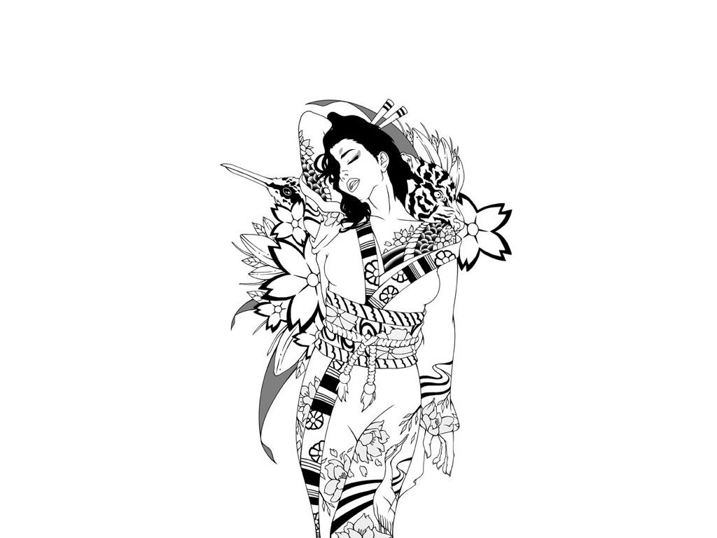 Japanese Geisha Tattoo Wallpapers Top Free Japanese Geisha Tattoo
